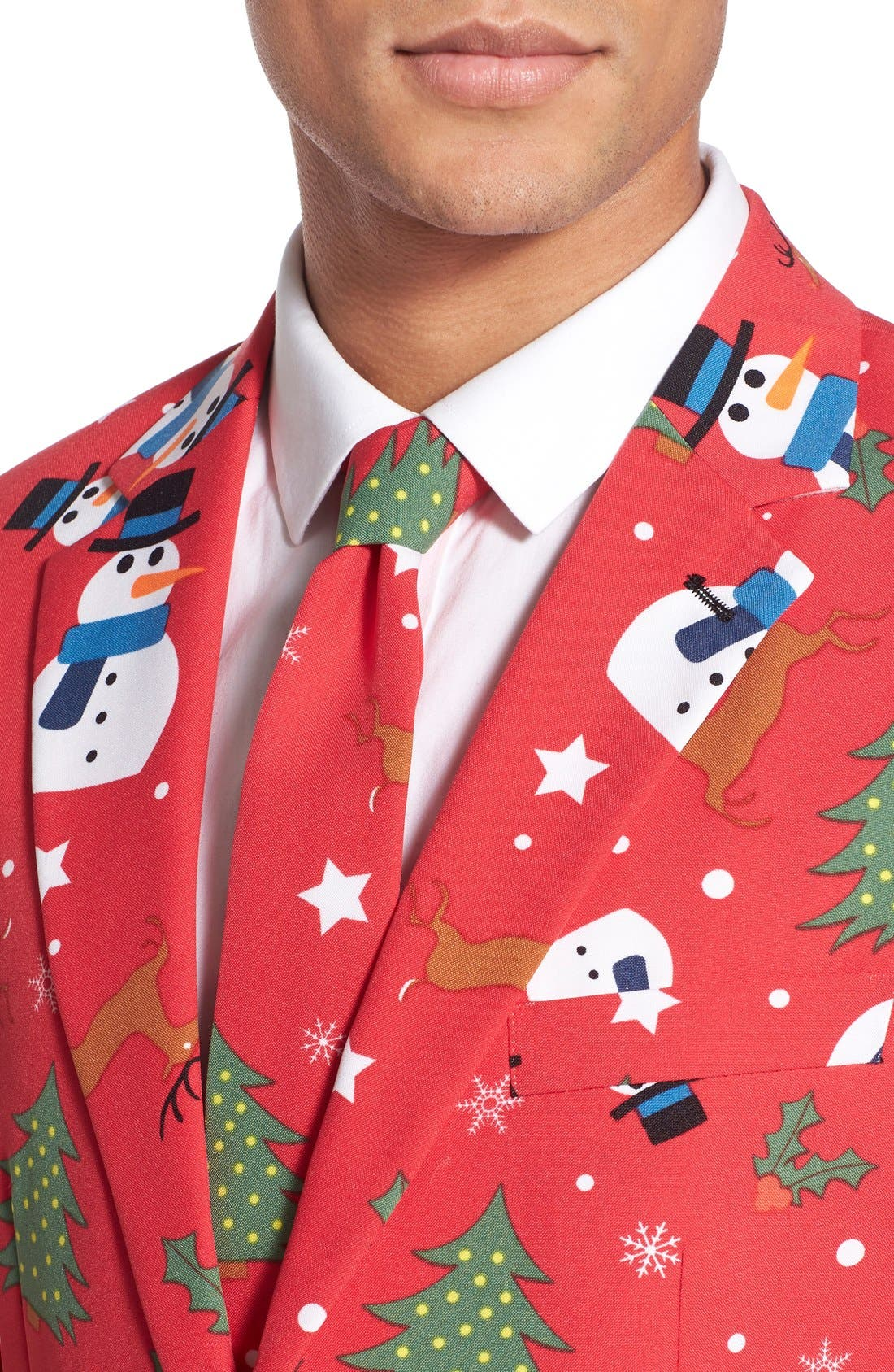 'Christmaster' Holiday Suit & Tie,                             Alternate thumbnail 6, color,                             Red