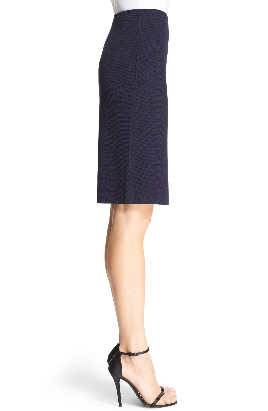 Alternate Image 5  - St. John Collection Milano Piqué Knit Pencil Skirt