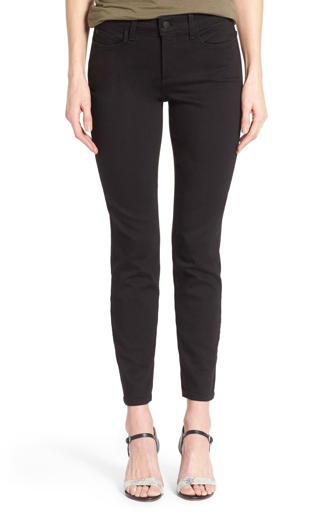 'Clarissa' Stretch Ankle Skinny Jeans,                         Main,                         color, Black Garment Wash