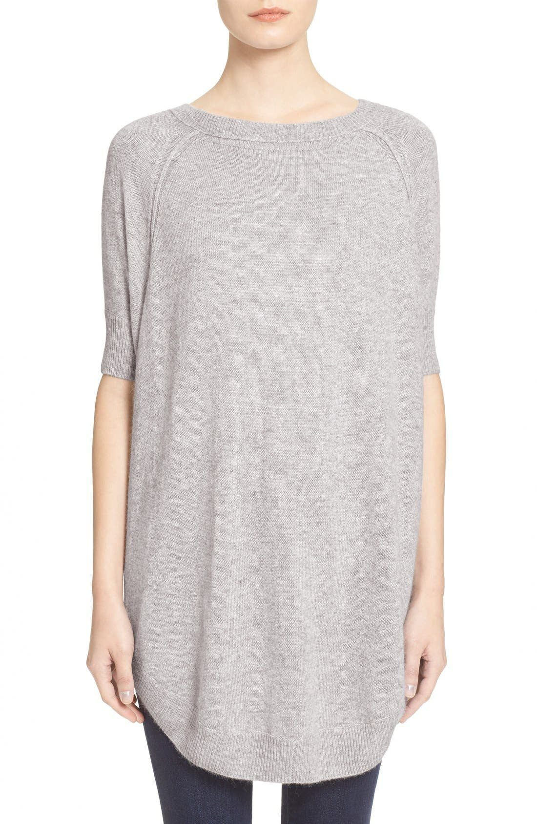 Alternate Image 1 Selected - Alice + Olivia 'Parcell' Short Sleeve Wool Tunic