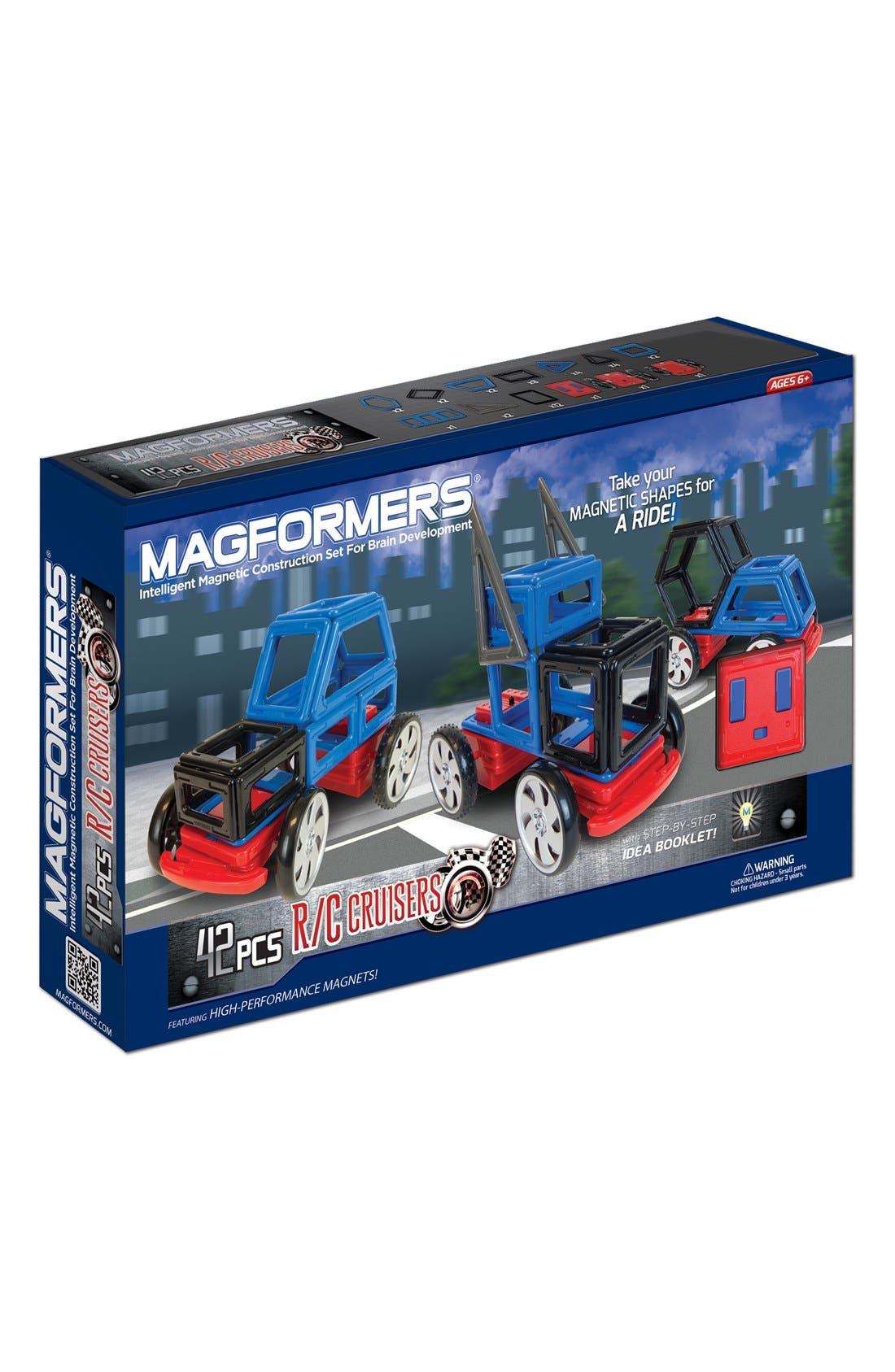 'R/C Cruiser' Magnetic Remote Control Vehicle Construction Kit,                         Main,                         color, Blue/ Black