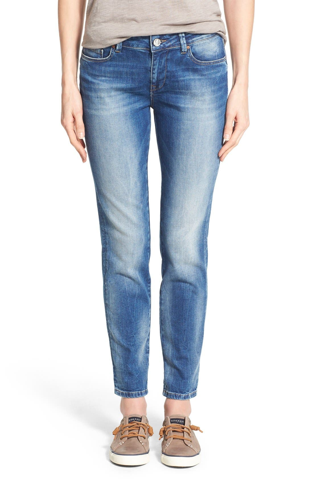 Alternate Image 1 Selected - Mavi Jeans 'Emma' Stretch Slim Boyfriend Jeans (Shaded Vintage)