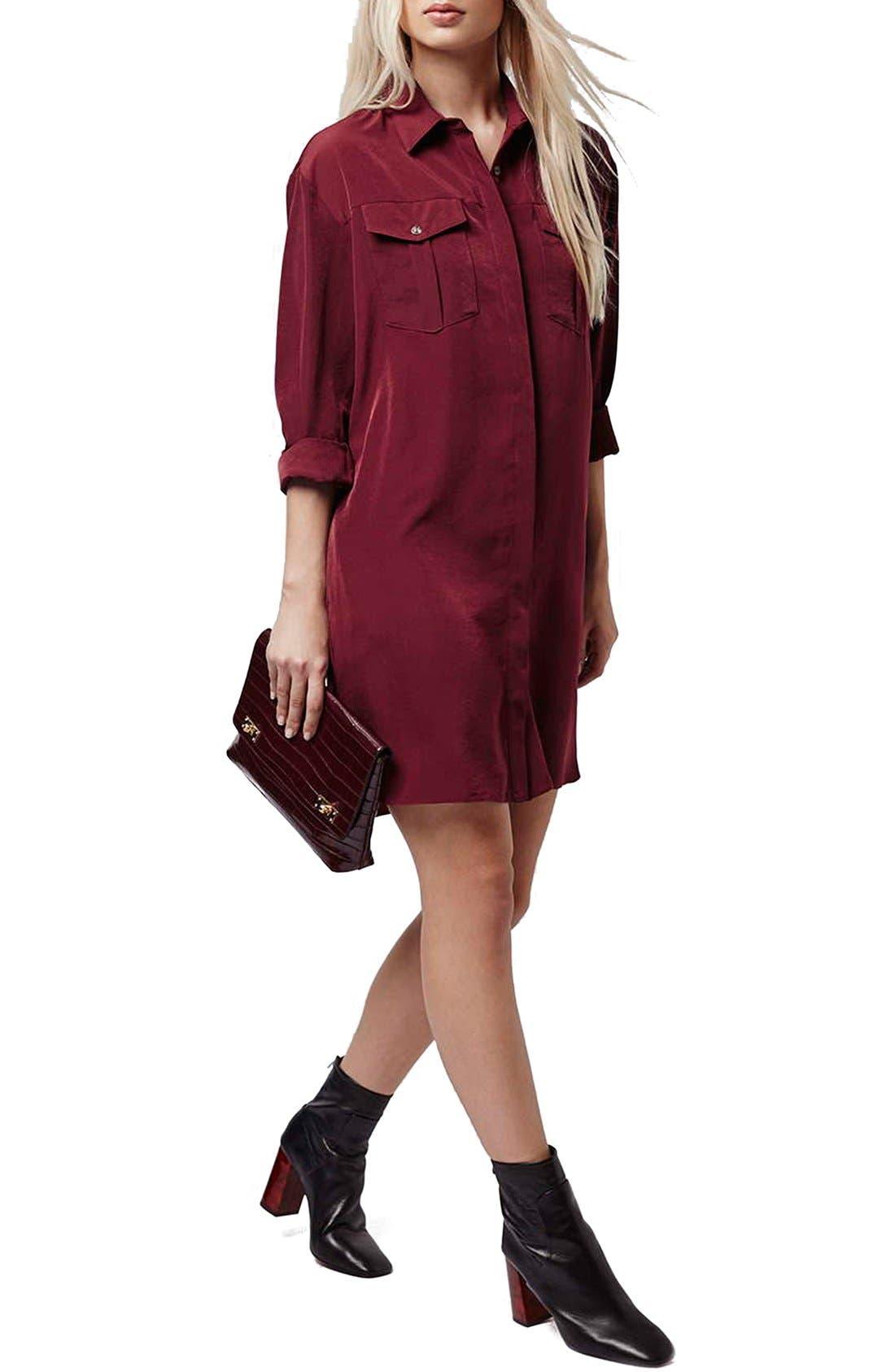 Alternate Image 1 Selected - Topshop Oversize Shirtdress