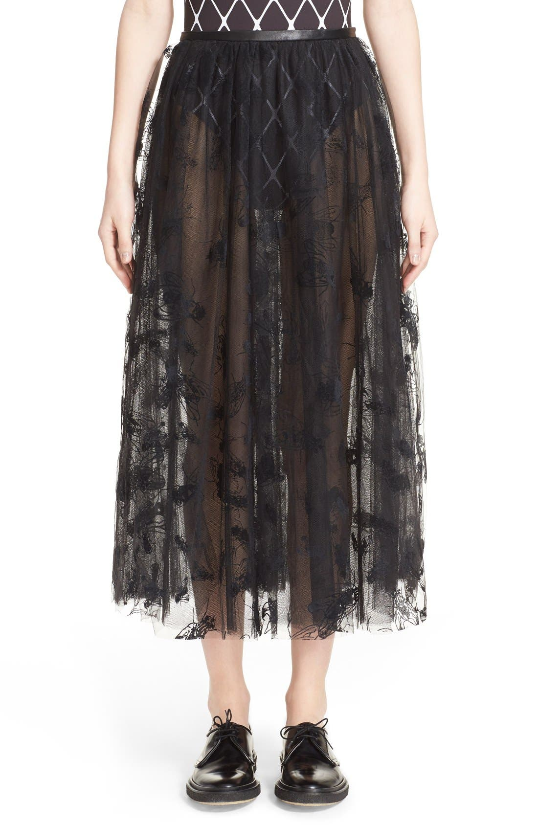 Main Image - Ashley Williams 'Flock Fly' Sheer Tulle Skirt