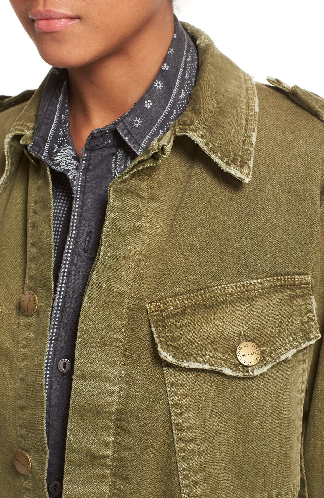 Alternate Image 5  - Current/Elliott 'Slanted Pocket' Army Jacket