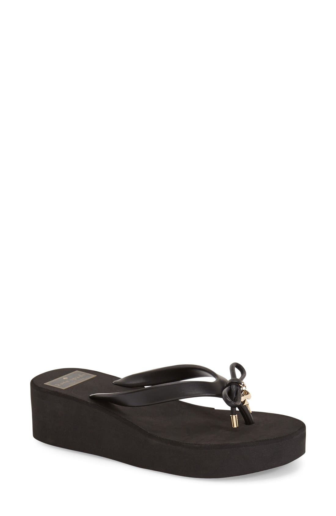 kate spade new york rhett platform flip flop (Women)