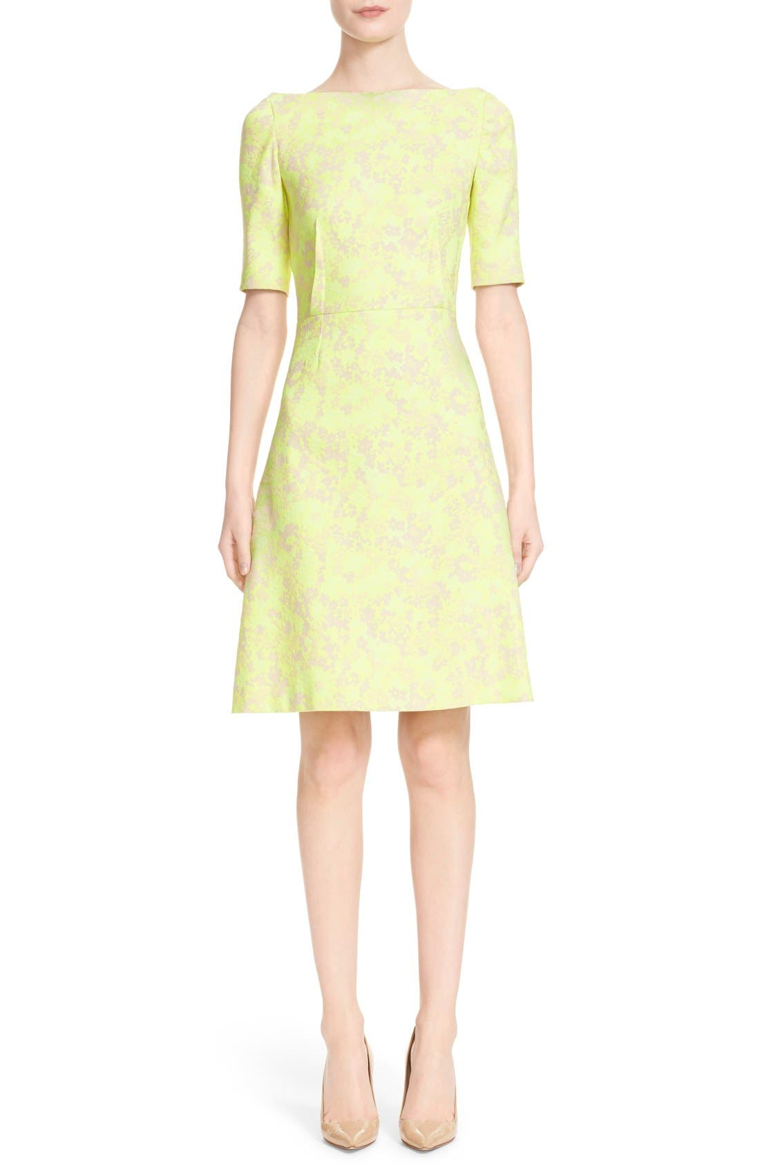 Alternate Image 1 Selected - Lela Rose Floral Jacquard Sheath Dress