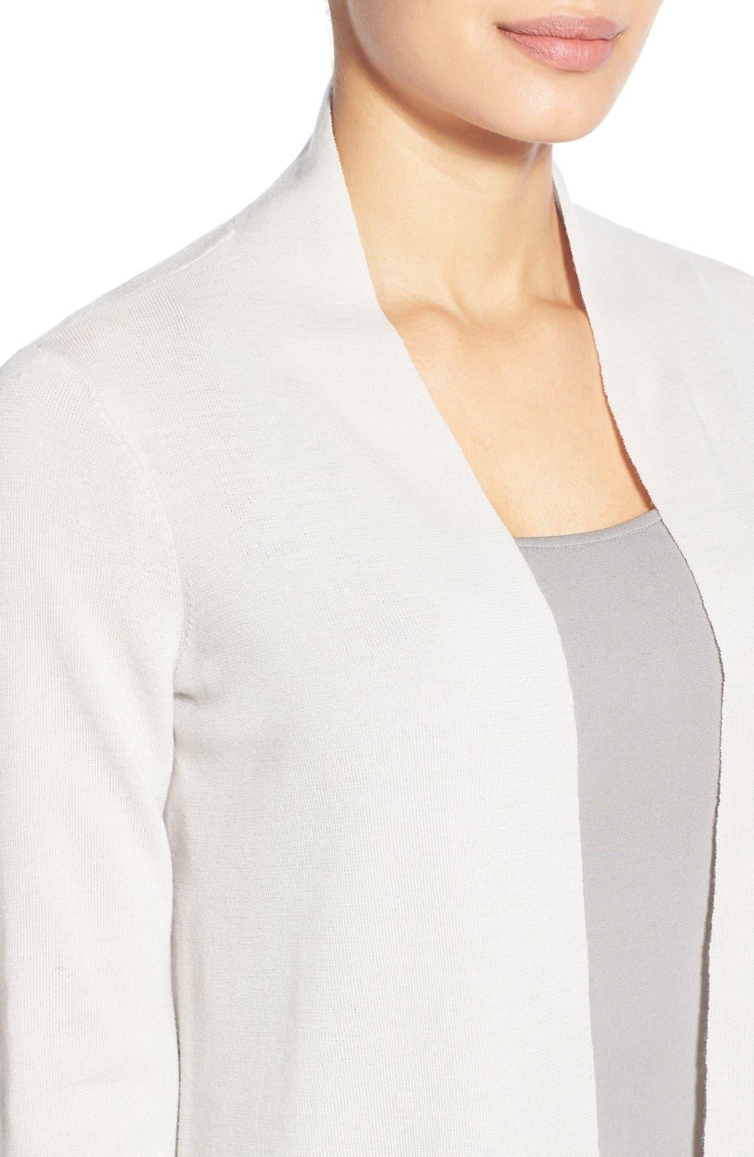 Alternate Image 4  - Eileen Fisher Merino Straight Long Cardigan (Regular & Petite)