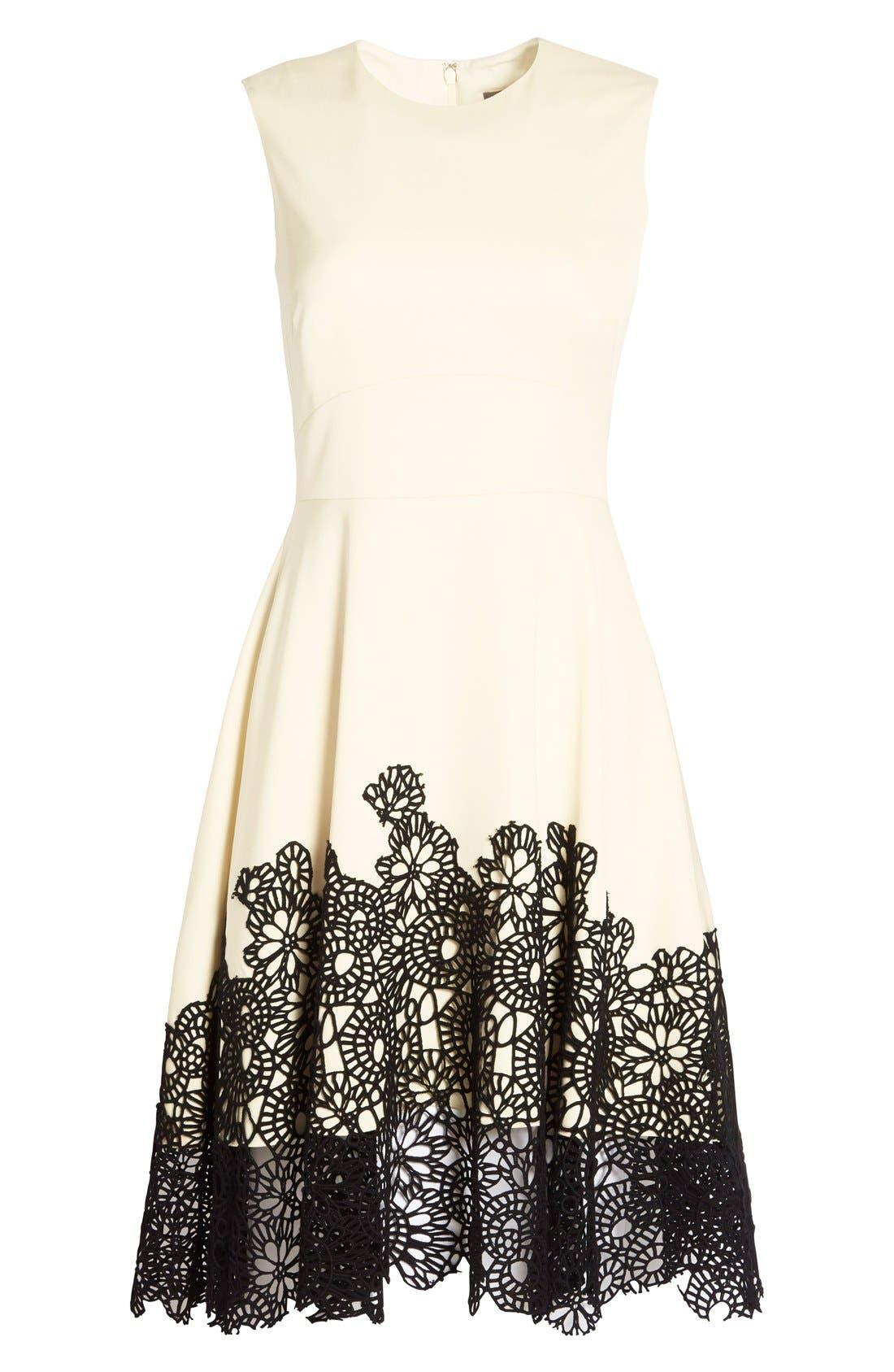 Alternate Image 4  - Lela Rose Guipure Lace Hem Dress