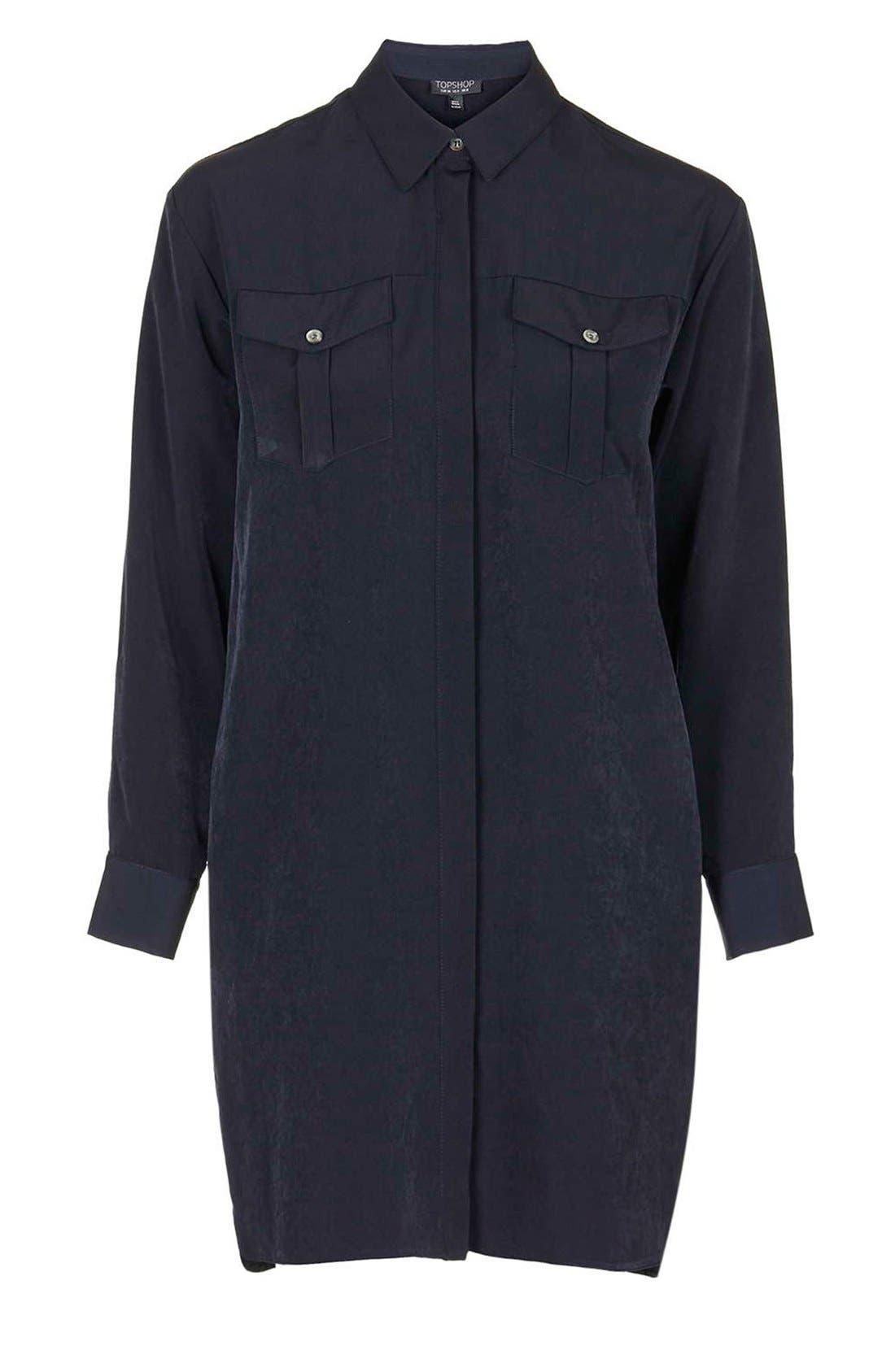 Alternate Image 6  - Topshop Oversize Shirtdress (Petite)