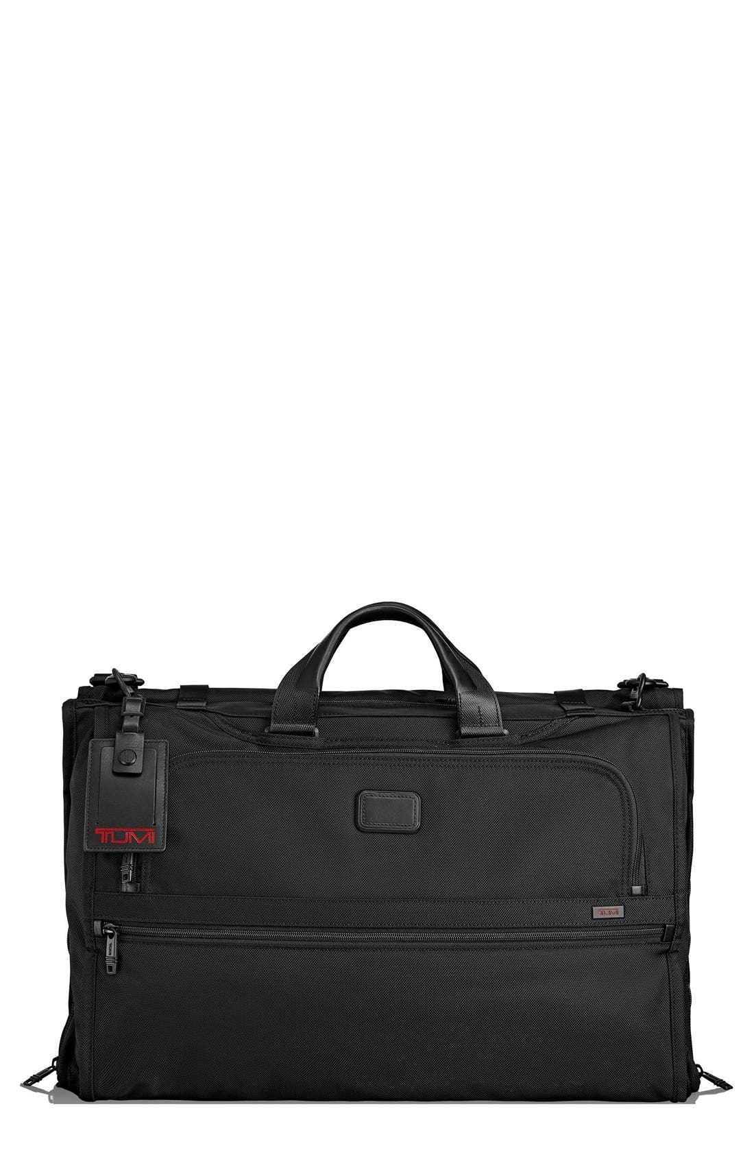 Alpha 2 22-Inch Trifold Carry-On Garment Bag,                             Main thumbnail 1, color,                             Black