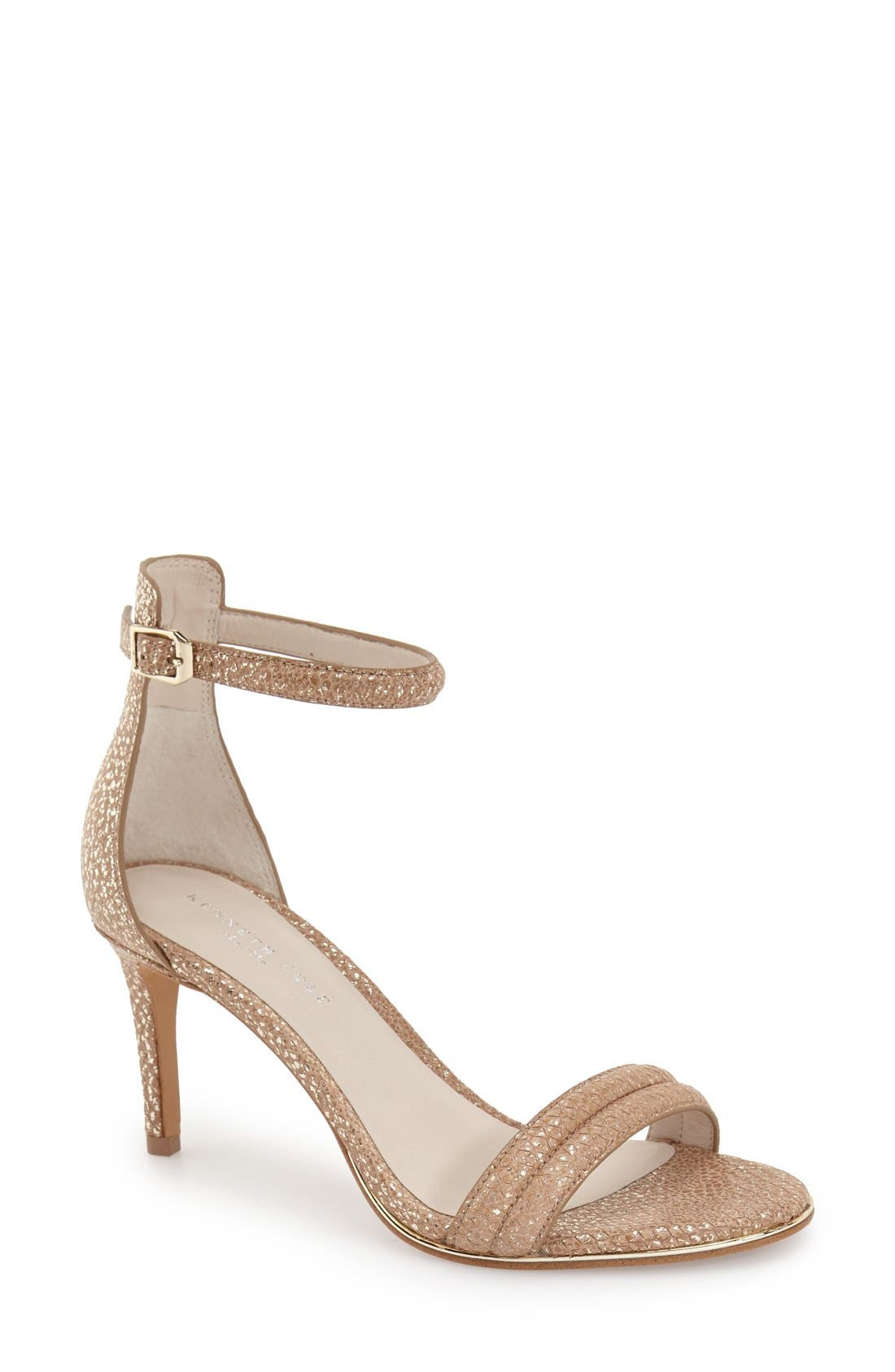 'Mallory' Ankle Strap Sandal,                         Main,                         color, Rose Gold