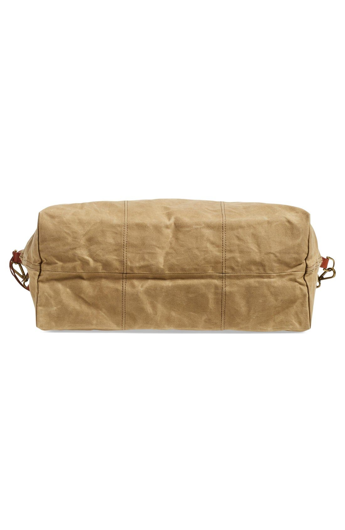 The Transport Canvas Weekend Bag,                             Alternate thumbnail 6, color,                             Truffle
