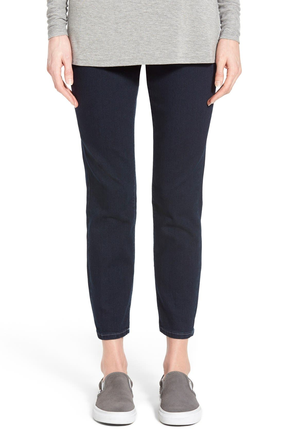 'Amelia' Pull-On Slim Ankle Jeans,                             Main thumbnail 1, color,                             Indigo