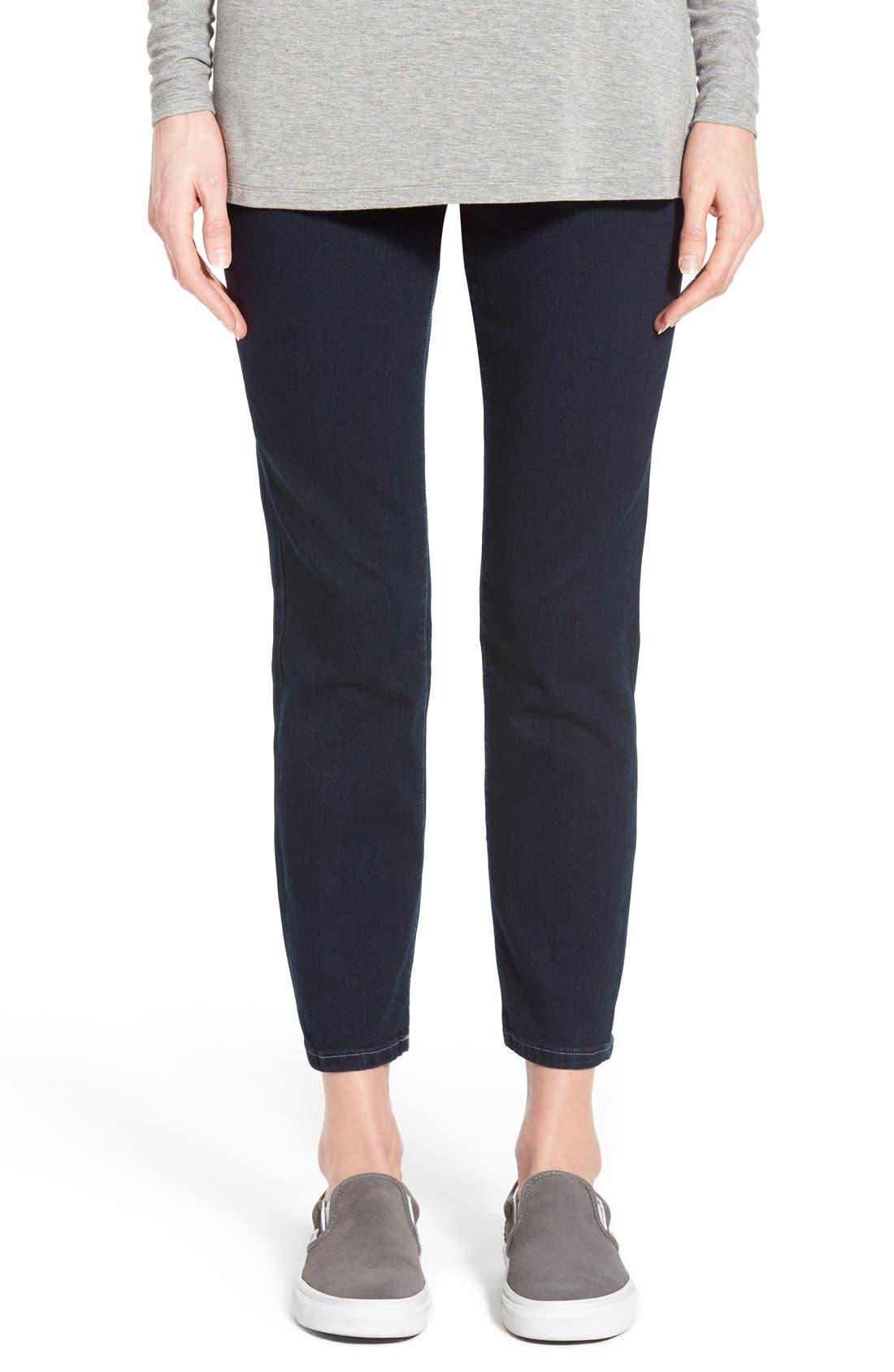 Main Image - Jag Jeans 'Amelia' Pull-On Slim Ankle Jeans (Indigo) (Petite)
