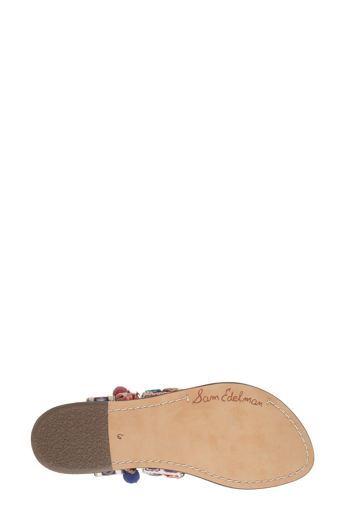 Alternate Image 4  - Sam Edelman 'Gretchen' Embellished Lace-Up Sandal (Women)