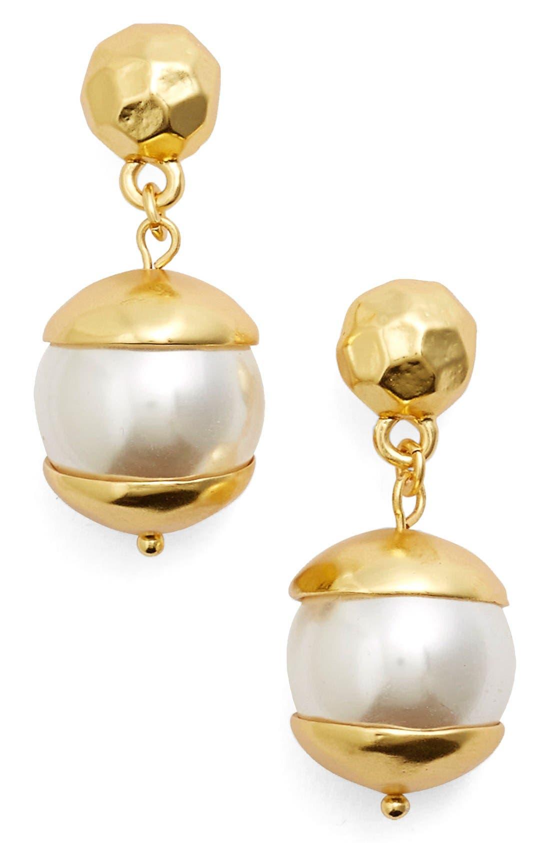 Karine Sultan Imitation Pearl Drop Earrings