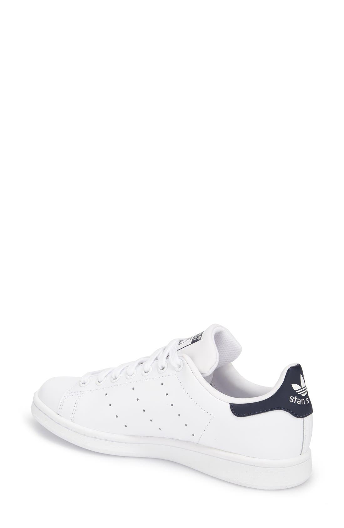 Stan Smith Sneaker,                             Alternate thumbnail 2, color,                             White/ Dark Blue