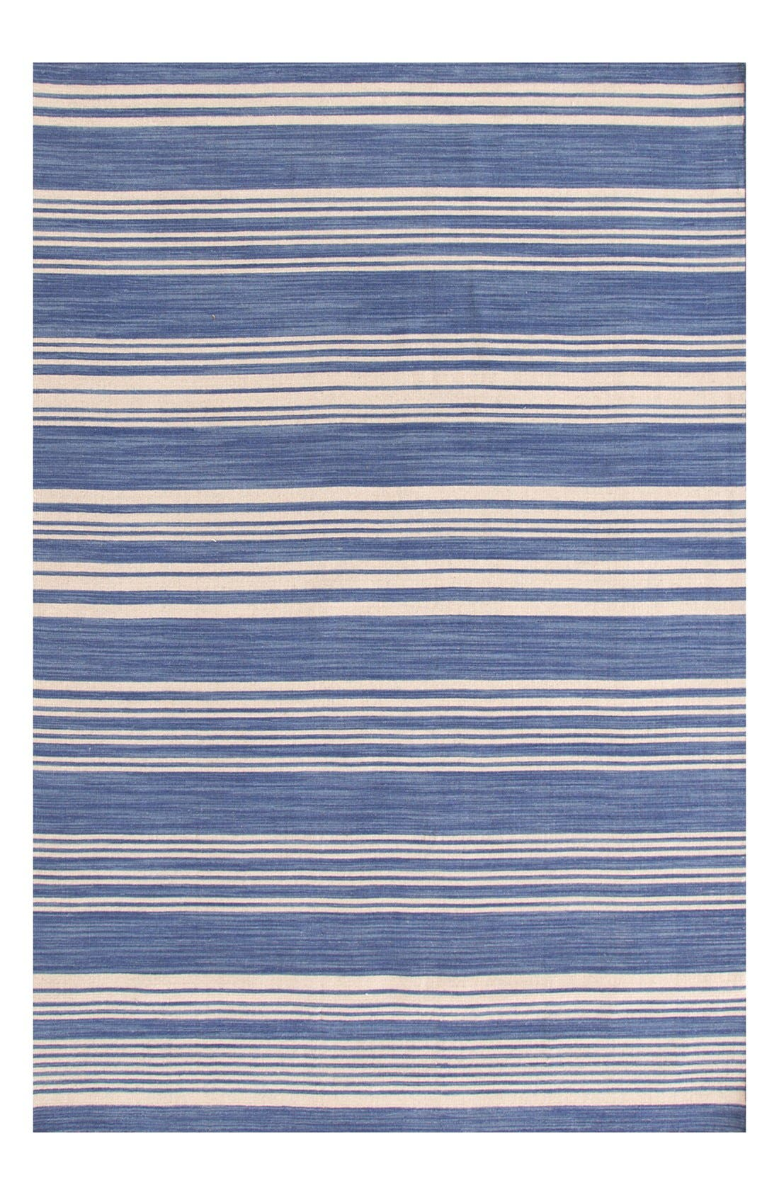 'Cottage' Stripe Wool Rug,                             Main thumbnail 1, color,                             French Blue/ Multi