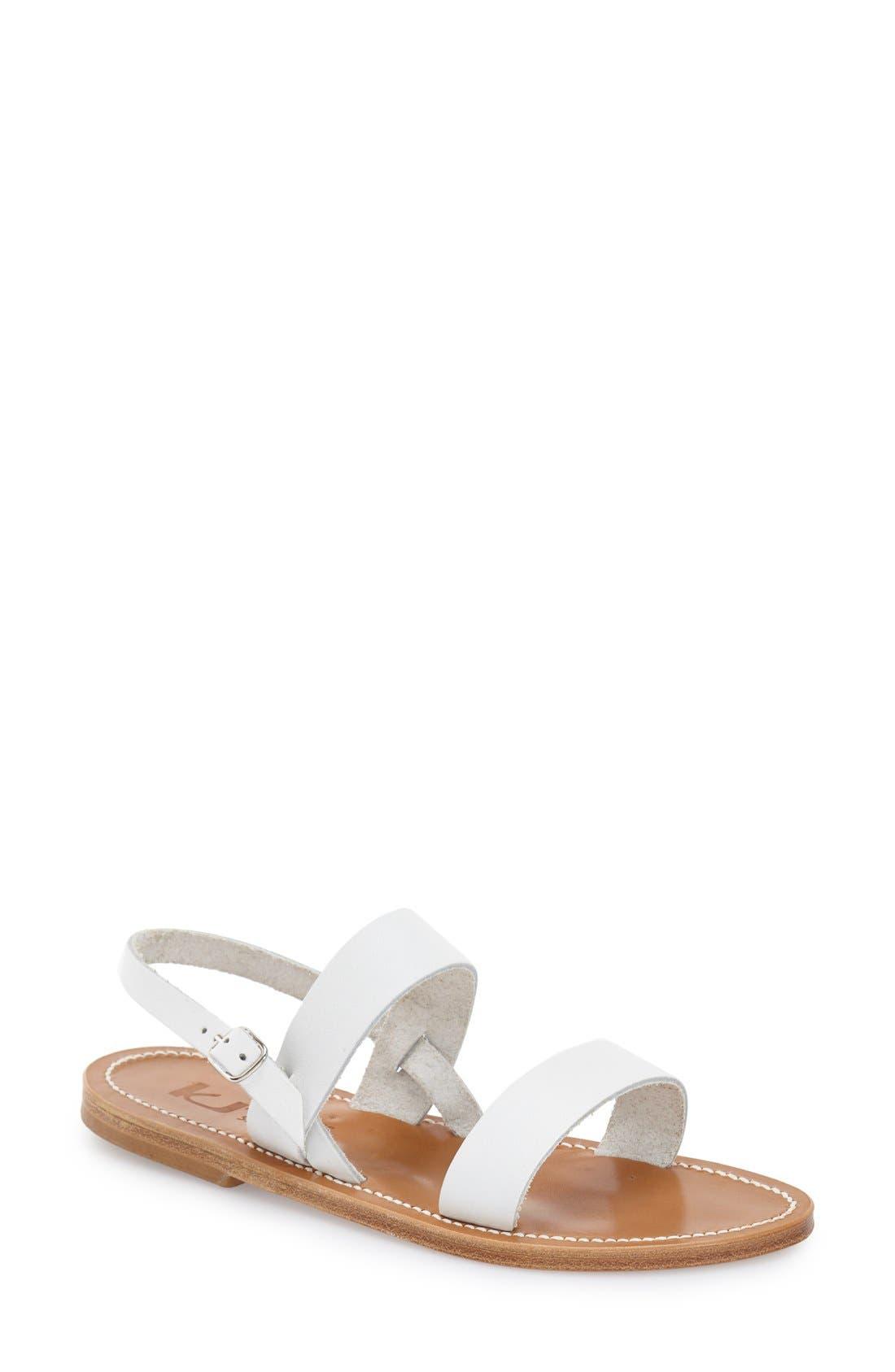 Alternate Image 1 Selected - K Jacques St. Tropez Flat 'Barigoule' Vachetta Leather Sandal