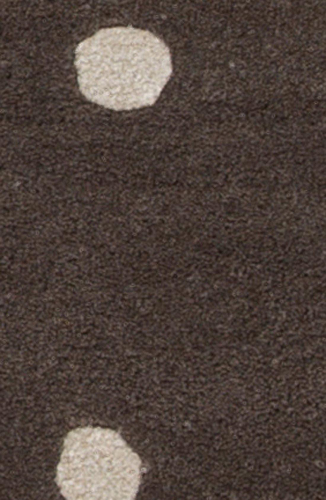 'gramercy - dots' rug,                             Alternate thumbnail 3, color,                             Grey/ Ivory