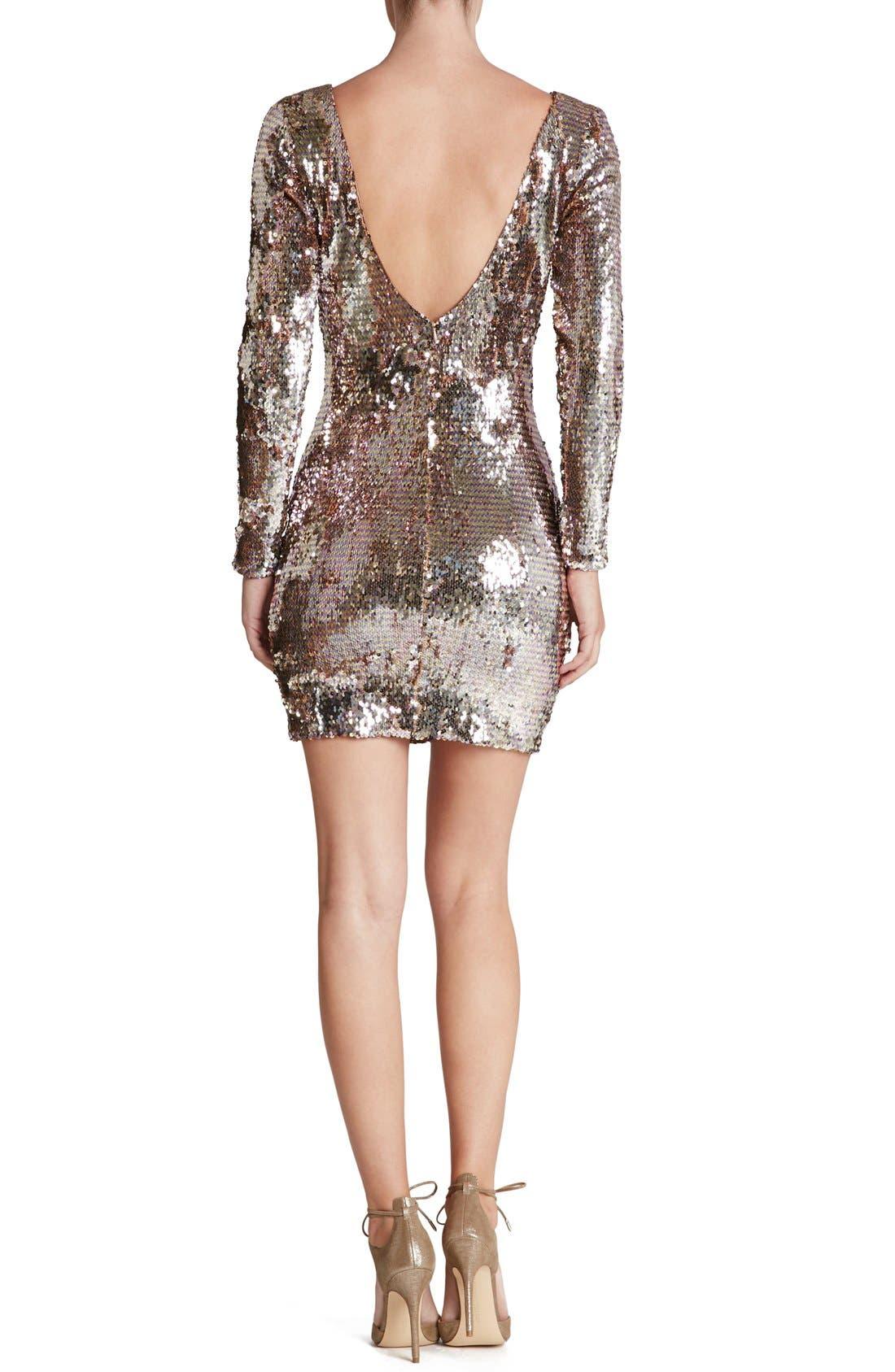 Alternate Image 2  - Dress the Population 'Lola' Backless Sequin Minidress