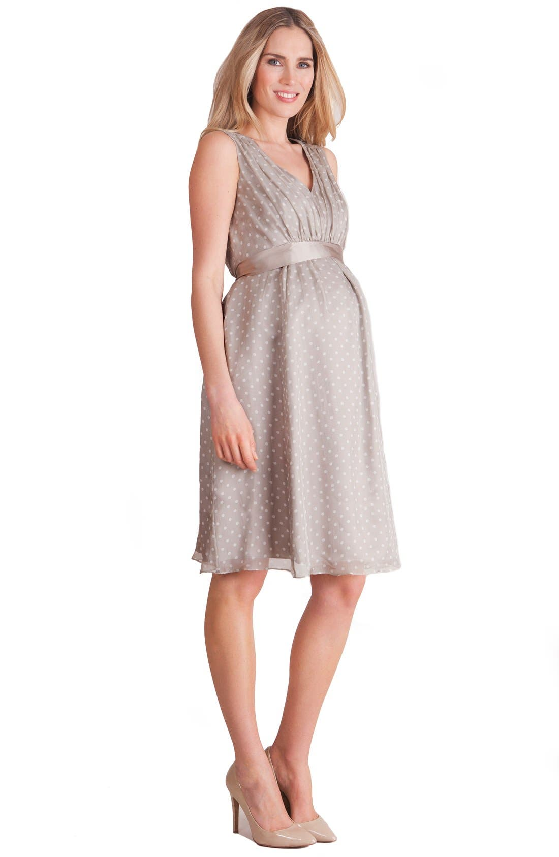 Alternate Image 3  - Seraphine Silk Chiffon Maternity Dress