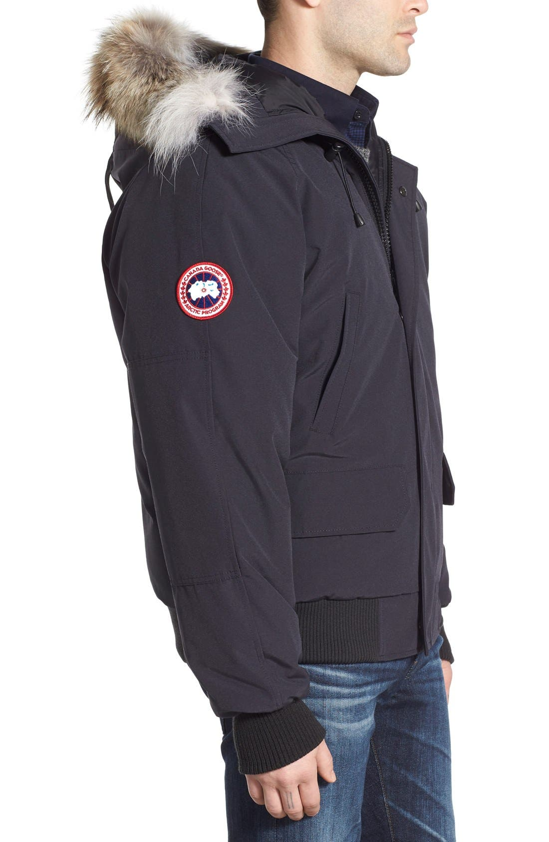 Alternate Image 3  - Canada Goose 'Chilliwack' Down Bomber Jacket with Genuine Coyote Trim