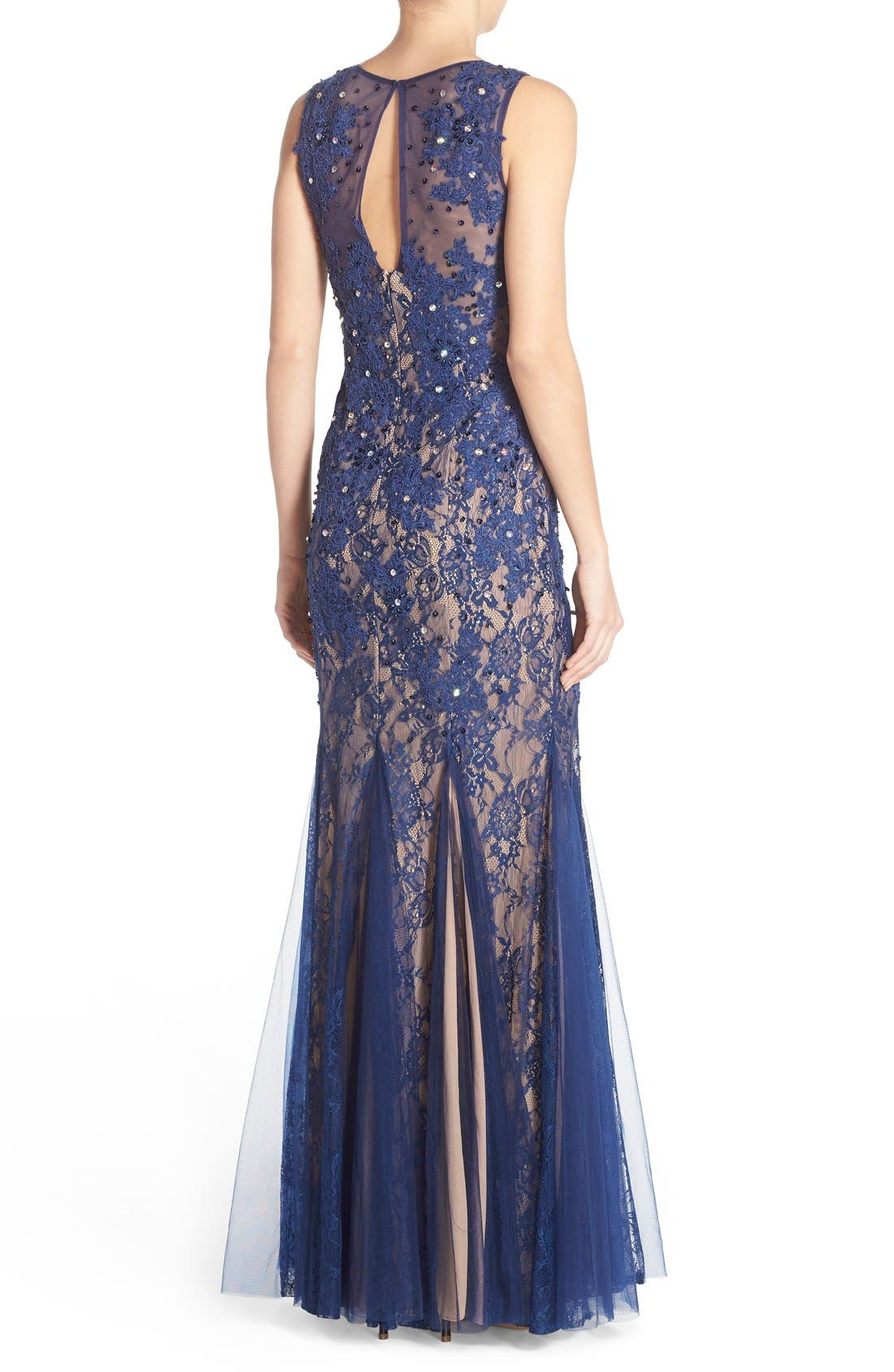 Alternate Image 2  - Sean Collection Embellished Lace Gown