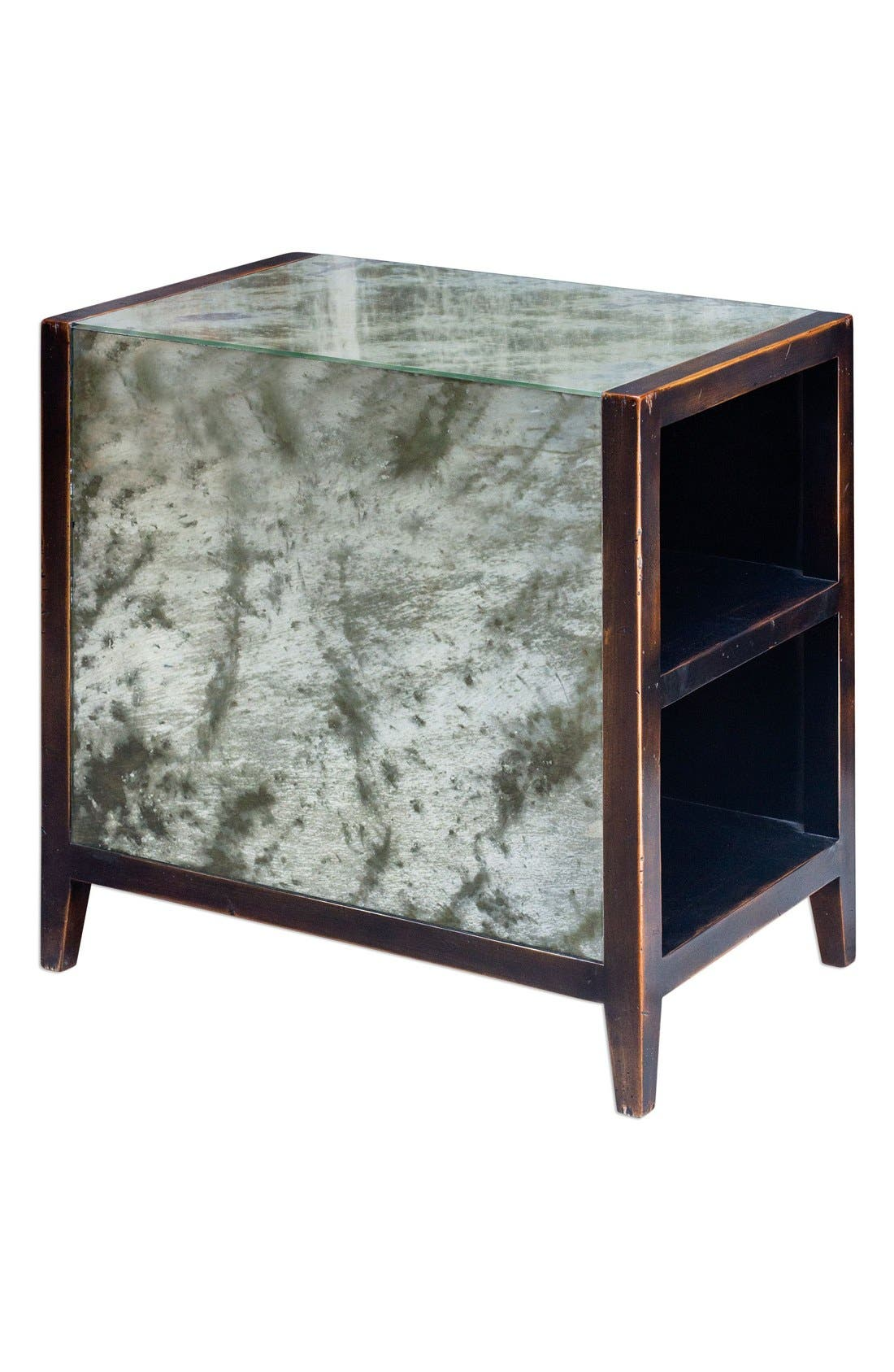 Uttermost Antiqued Mirror End Table