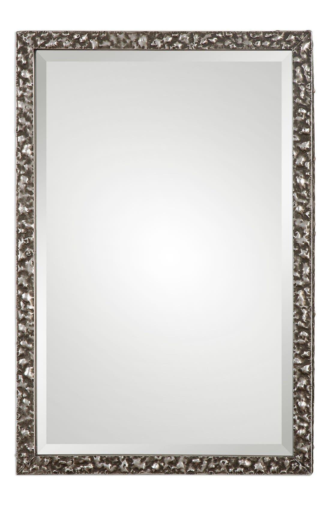 'Alshon' Rectangular Wall Mirror,                         Main,                         color, Grey