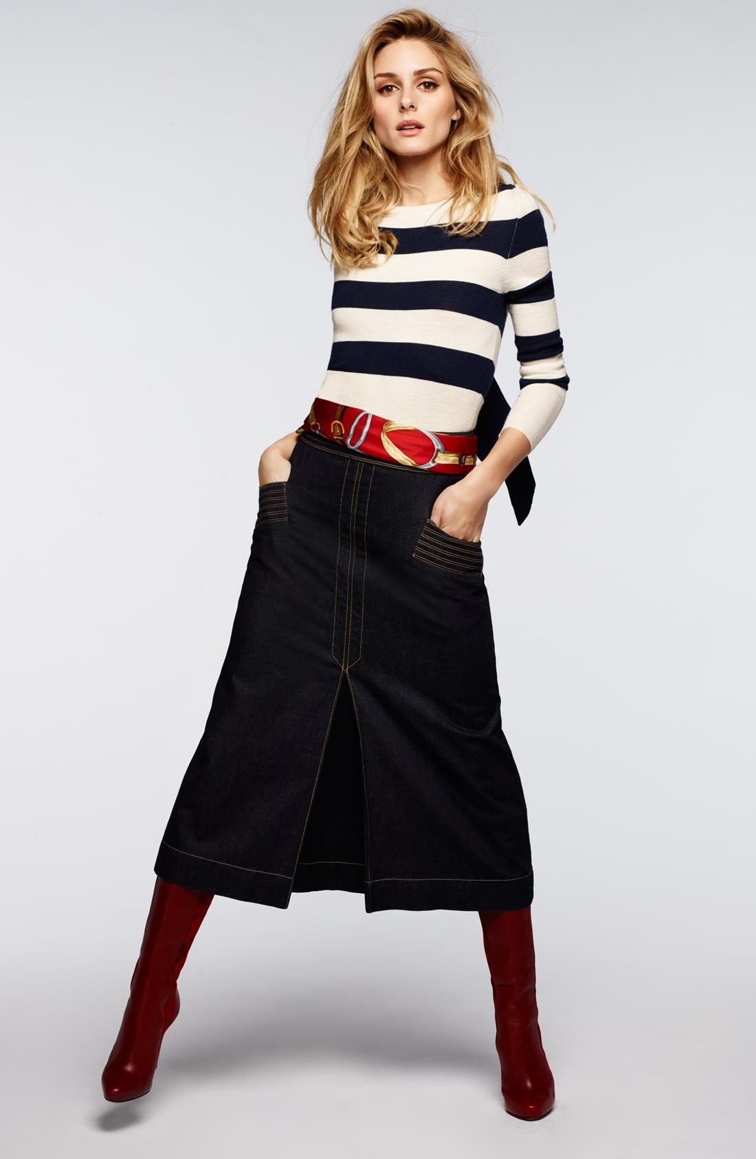 Alternate Image 5  - Olivia Palermo + Chelsea28 Stripe Wool & Cashmere Pullover
