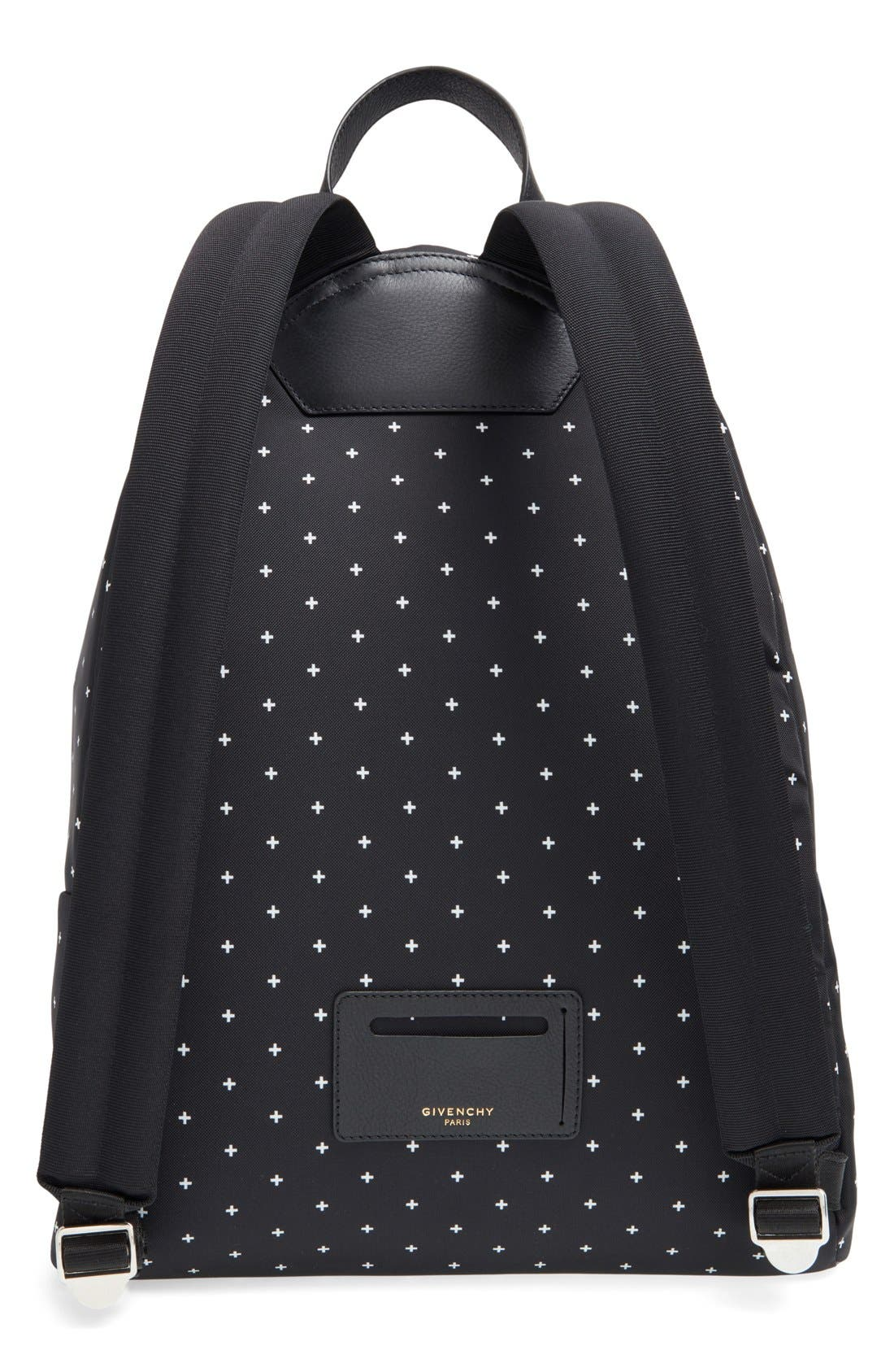 Canvas Backpack,                             Alternate thumbnail 3, color,                             Black