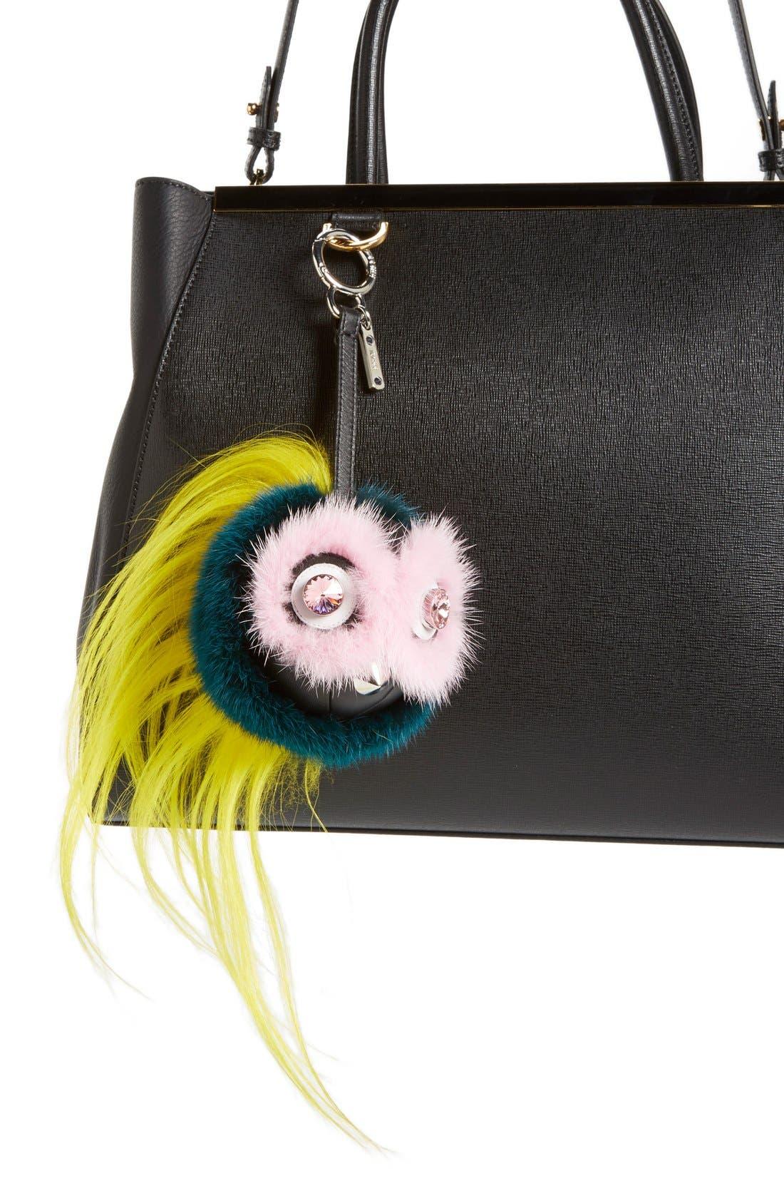 Alternate Image 2  - Fendi Genuine Mink Fur & Genuine Goat Fur Bag Charm