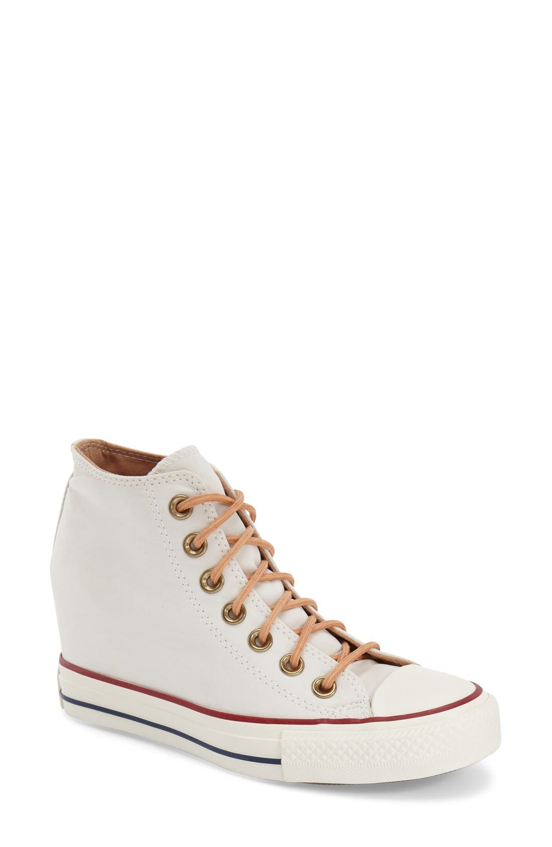 converse wedges white