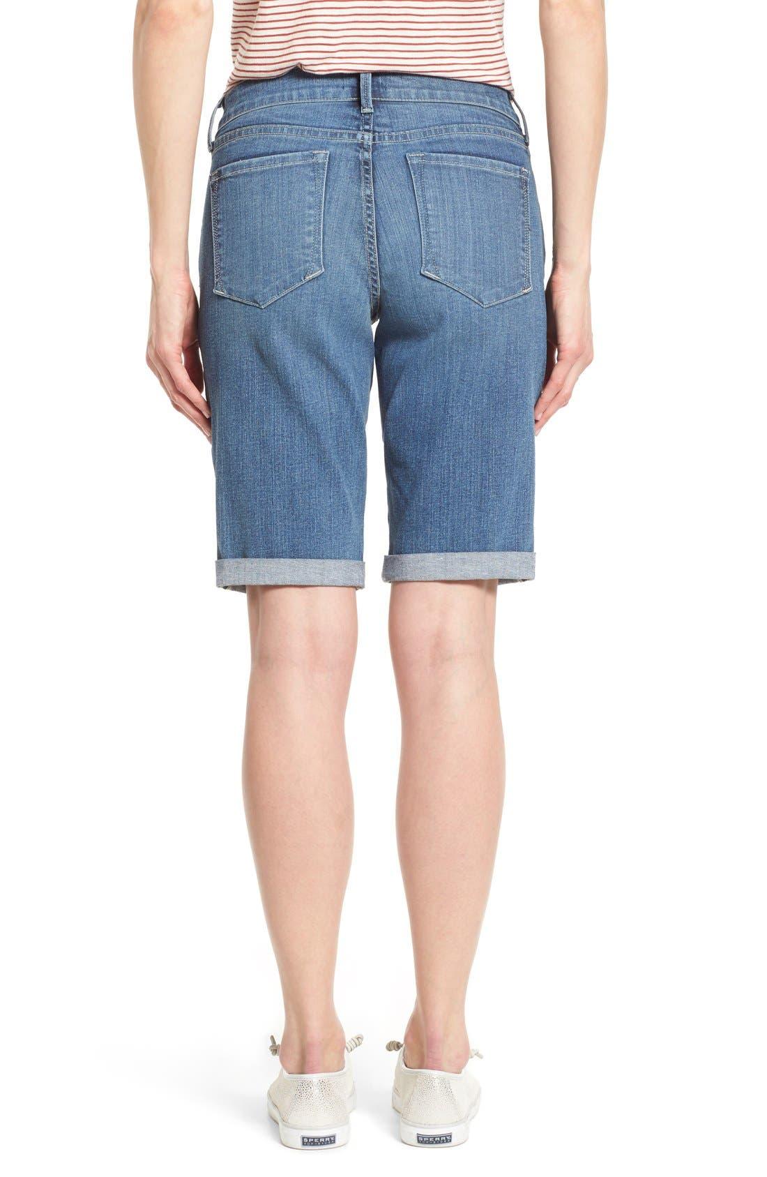Briella Roll Cuff Stretch Denim Shorts,                             Alternate thumbnail 2, color,                             Heyburn