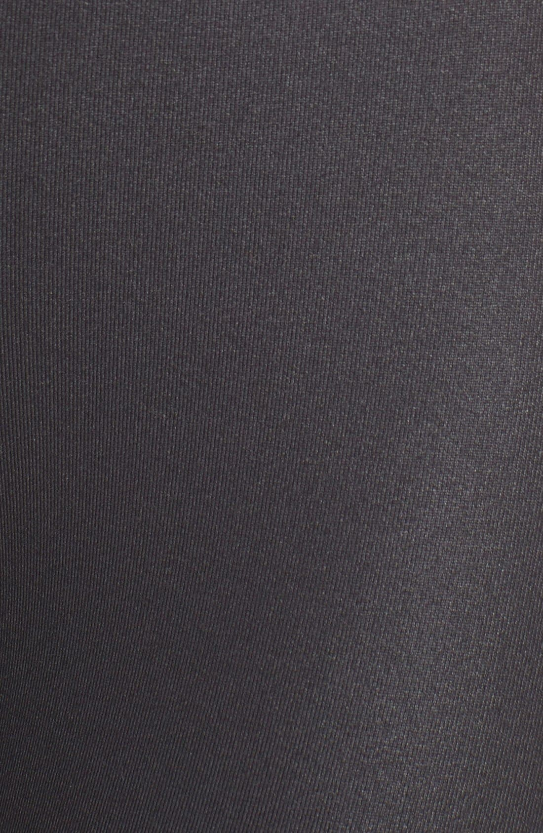 High Waist Airbrush Capris,                             Alternate thumbnail 7, color,                             Black Glossy