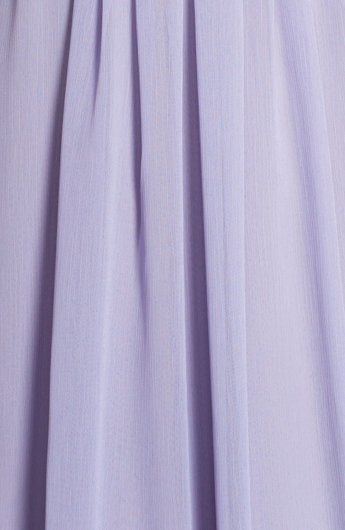 Alternate Image 5  - Hayley Paige Occasions Strapless Crinkle Chiffon A-Line Gown
