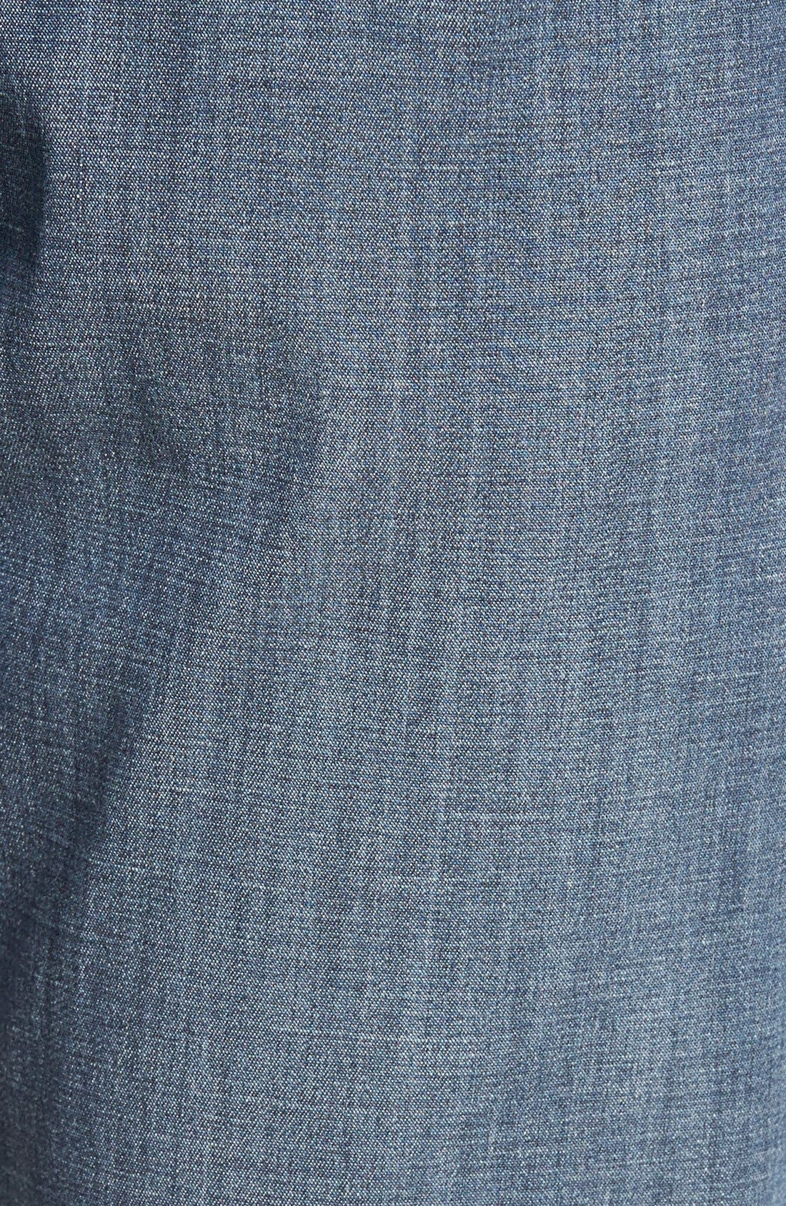 Alternate Image 5  - Mavi Jeans 'Zach' Straight Leg Jeans (Chambray) (Regular & Tall)
