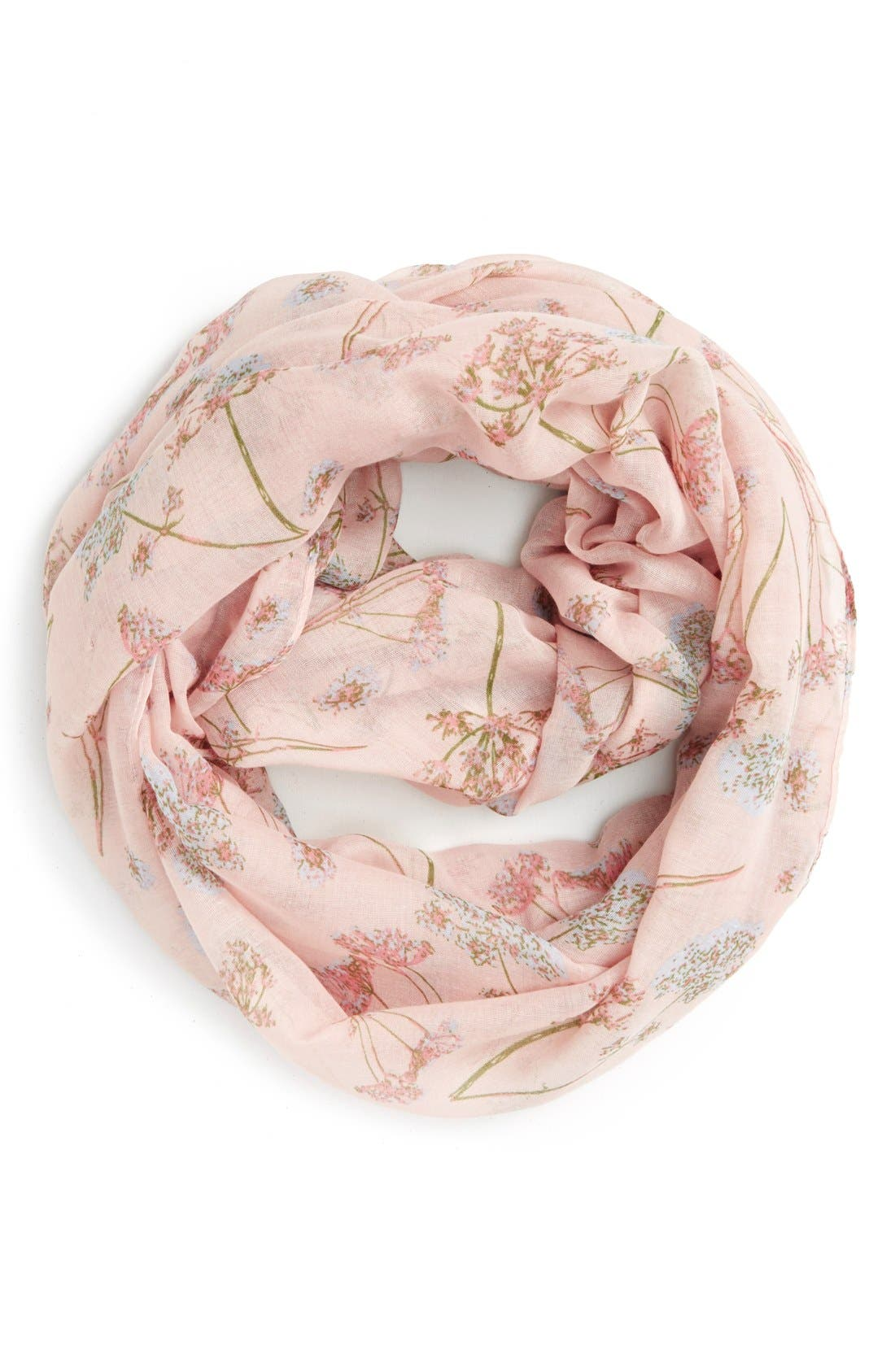 'Wildflower' Infinity Scarf,                         Main,                         color, Pink Multi