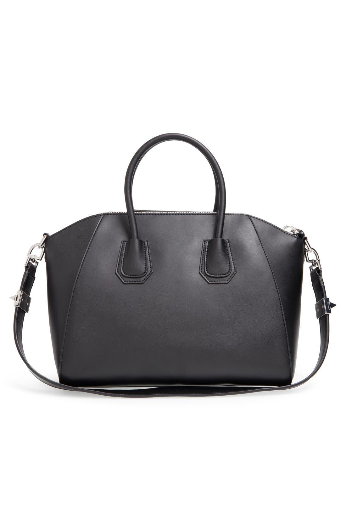 'Medium Antigona' Leather Satchel,                             Alternate thumbnail 3, color,                             Black