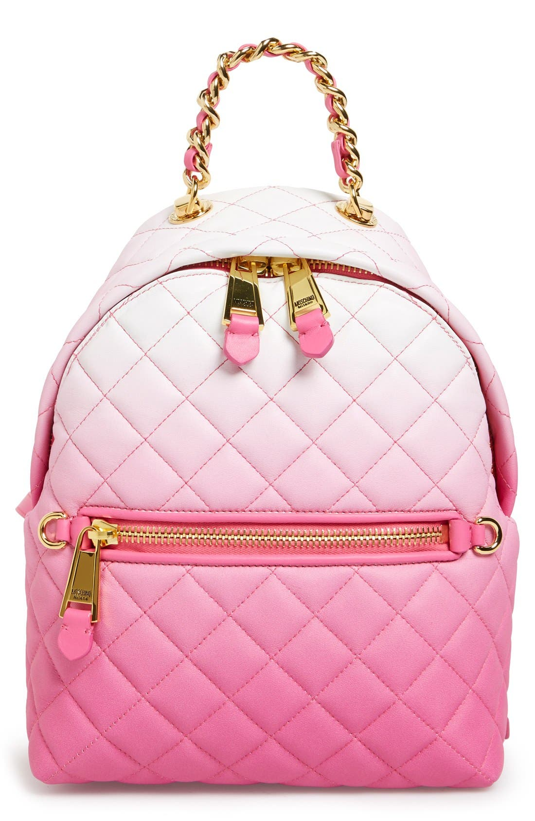 Main Image - Moschino 'Letters' Dégradé Quilted Nappa Leather Backpack