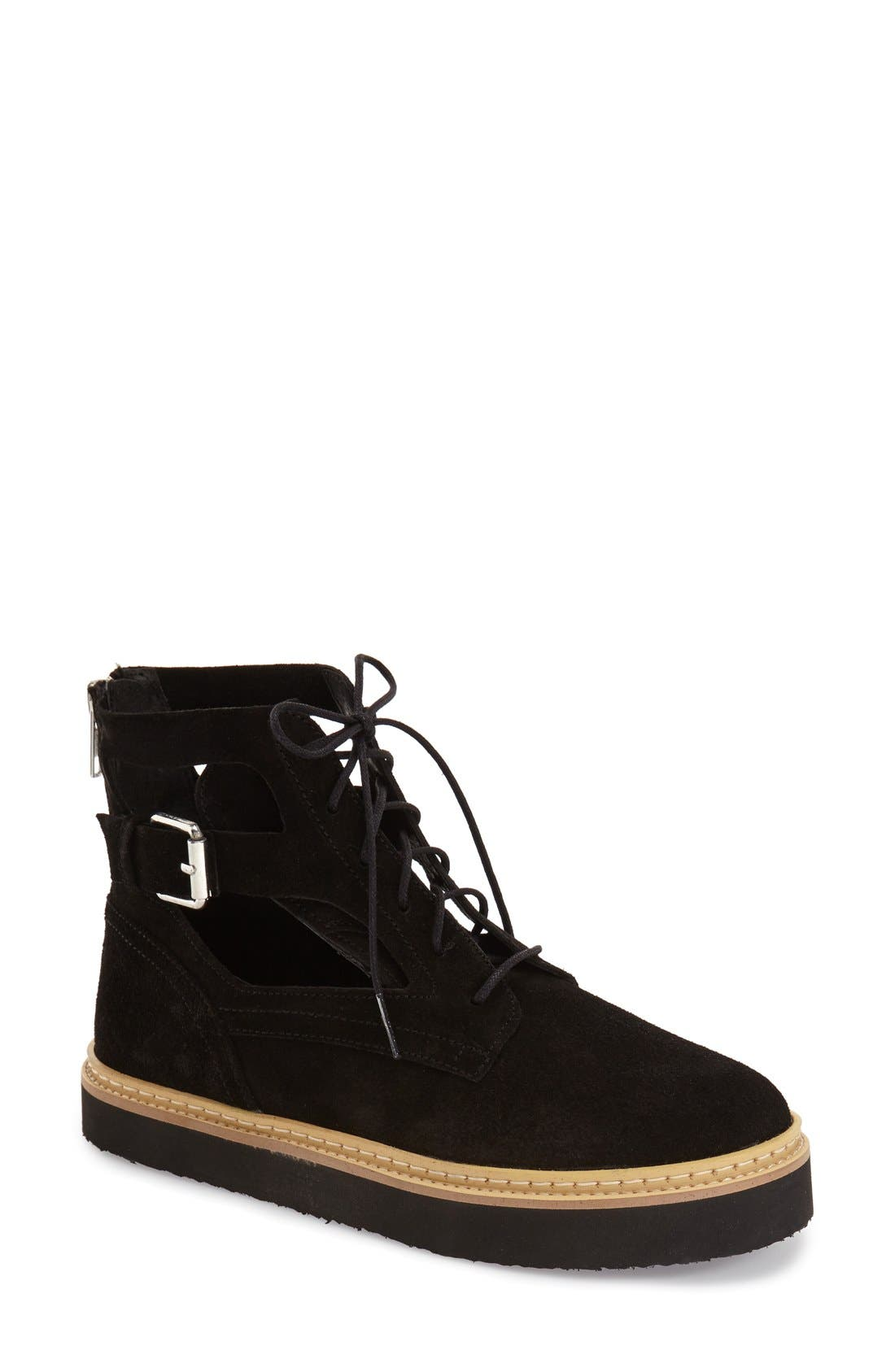Alternate Image 1 Selected - Topshop 'Attack' Cutout Bootie (Women)