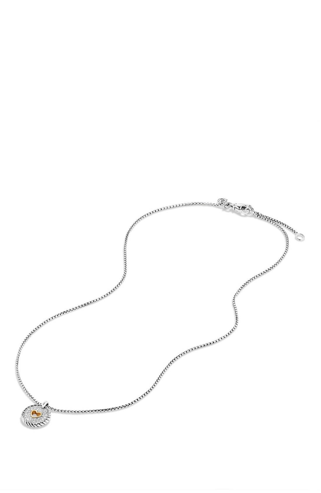 Alternate Image 3  - David Yurman 'Cable Collectibles' Heart Charm with Diamonds