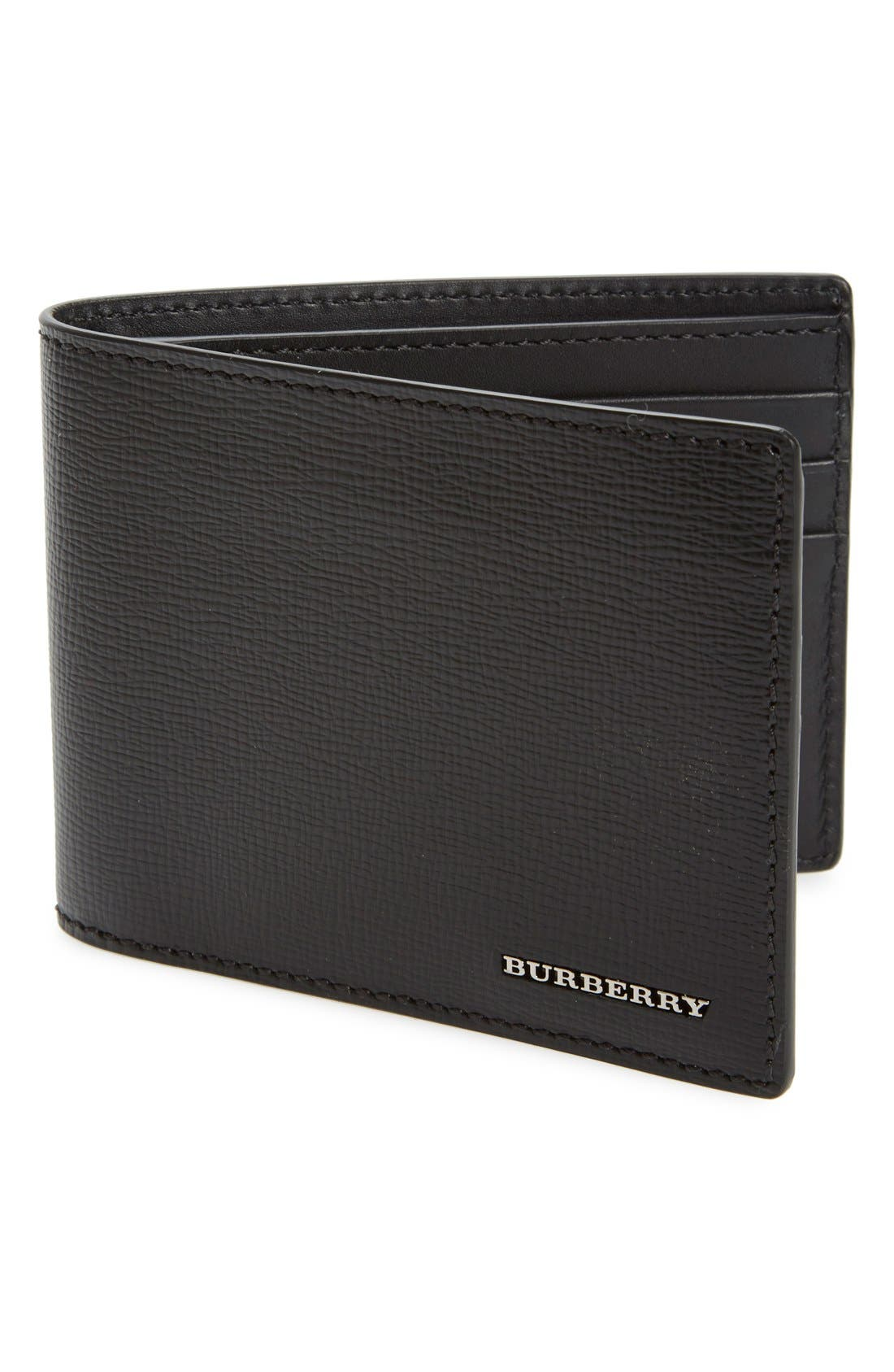 BURBERRY New London Calfskin Leather Bifold Wallet