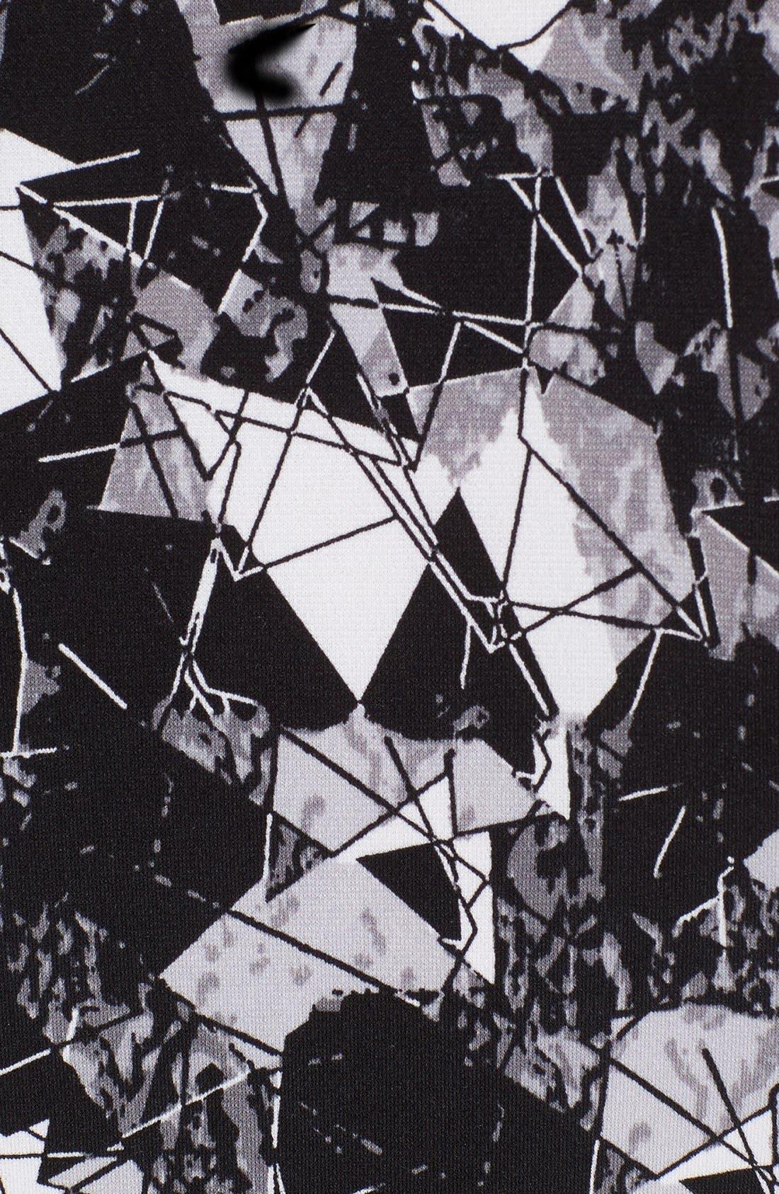Alternate Image 5  - Vince Camuto Print Jersey Cutaway Shoulder Maxi Dress (Petite)