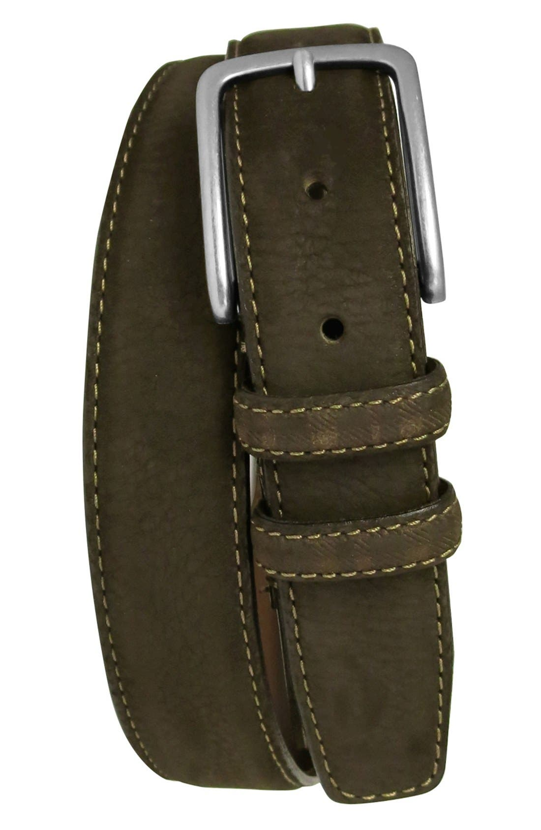 Alternate Image 1 Selected - Boconi 'Tyler' Double Stitched Suede Belt