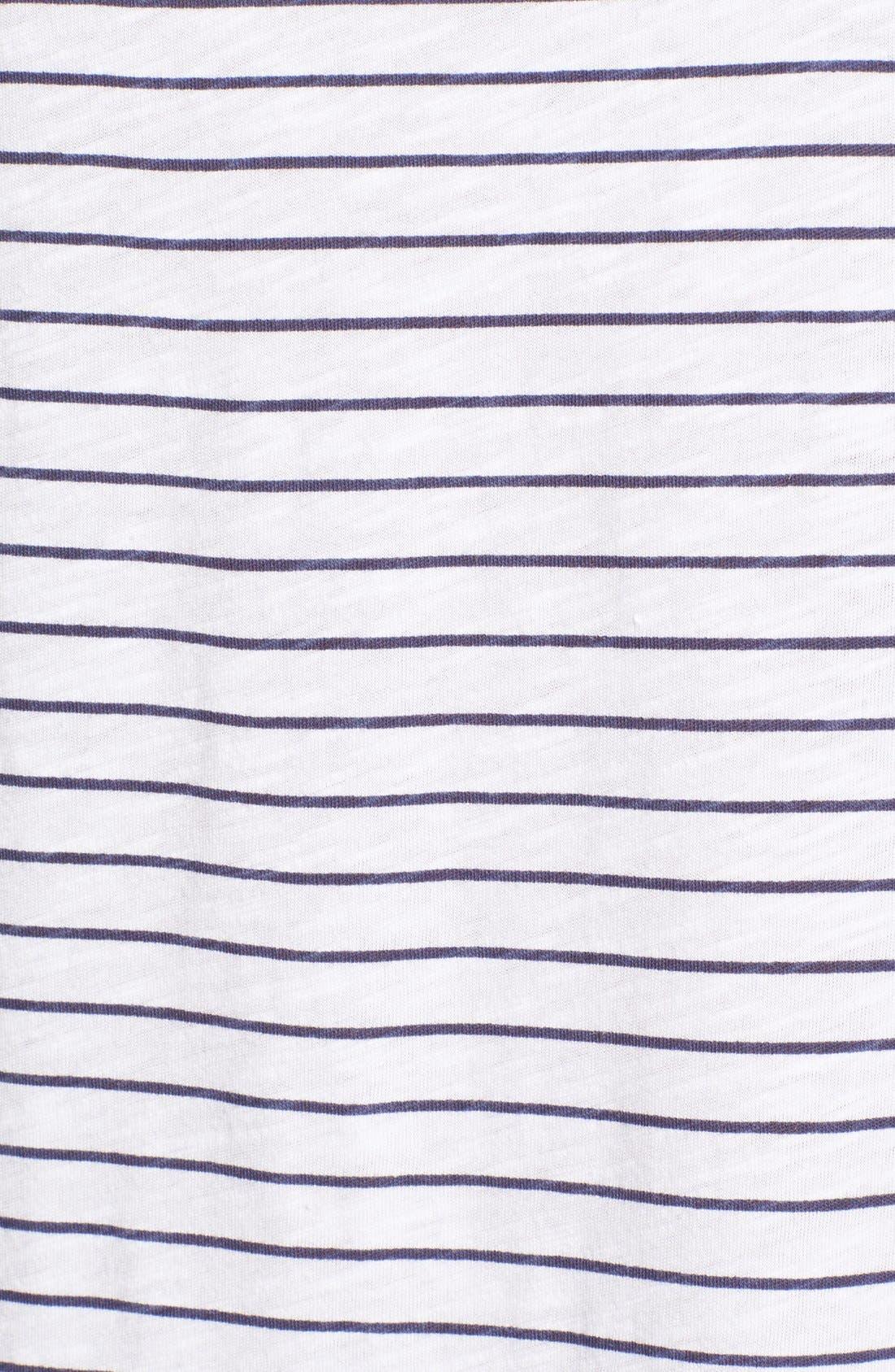 Alternate Image 5  - Sundry Stripe Short Sleeve Shift Dress