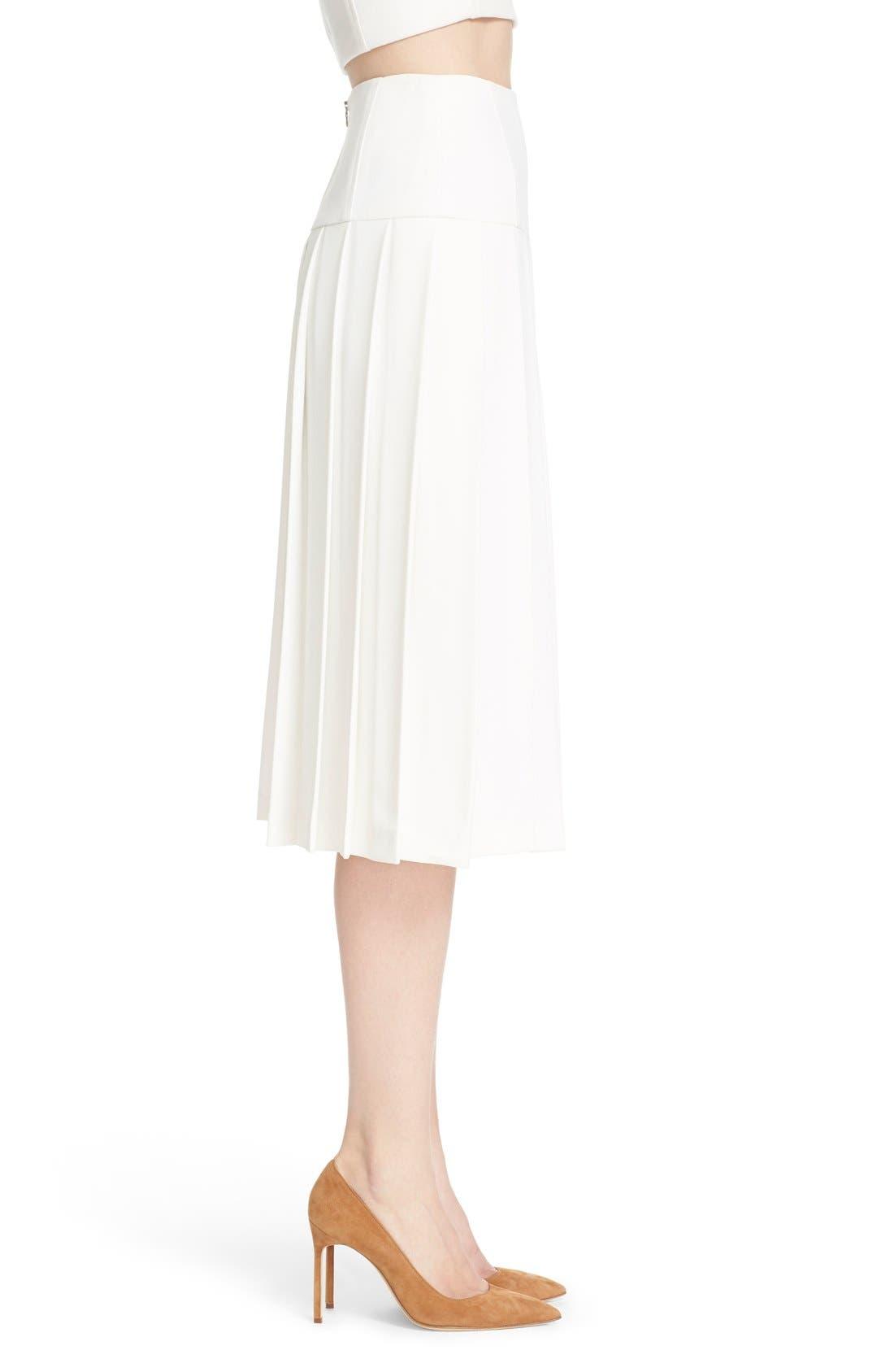 Alternate Image 3  - Alice + Olivia 'Joann' Pleated Midi Skirt