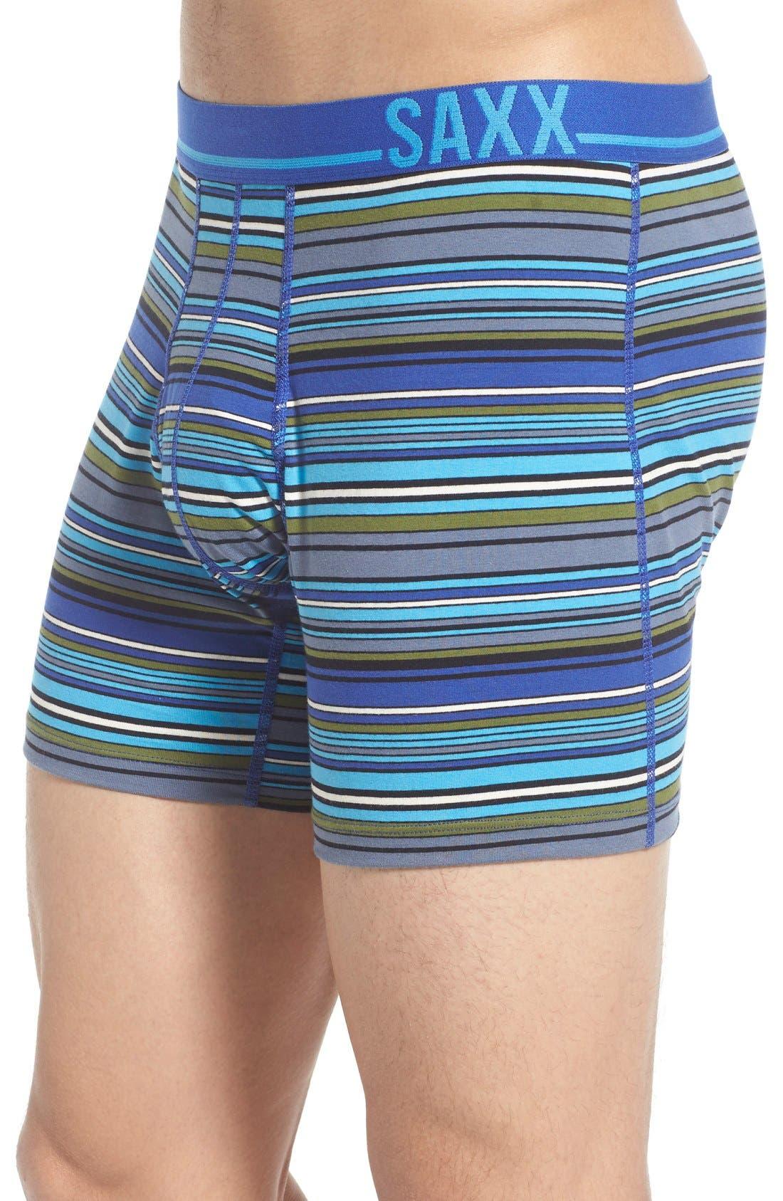 365 Boxer Briefs,                             Alternate thumbnail 4, color,                             Cobalt Blanket Stripe